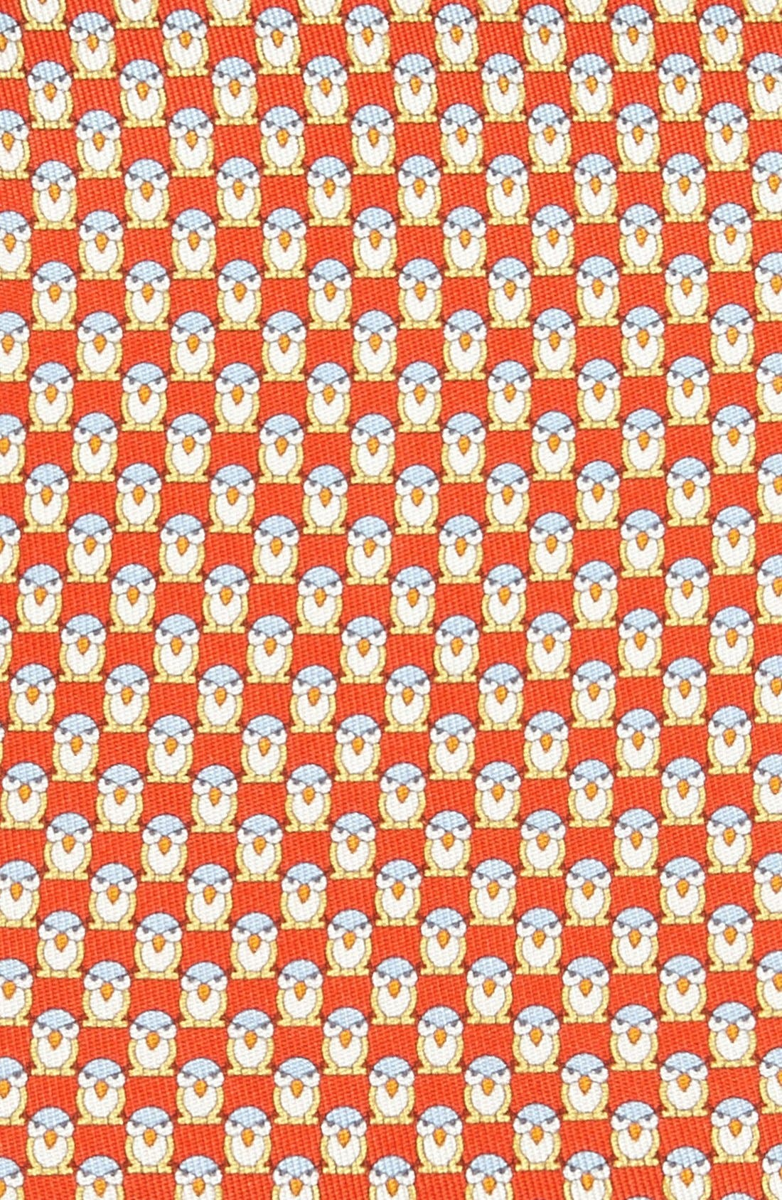 Alternate Image 2  - Salvatore Ferragamo Owl Print Silk Tie