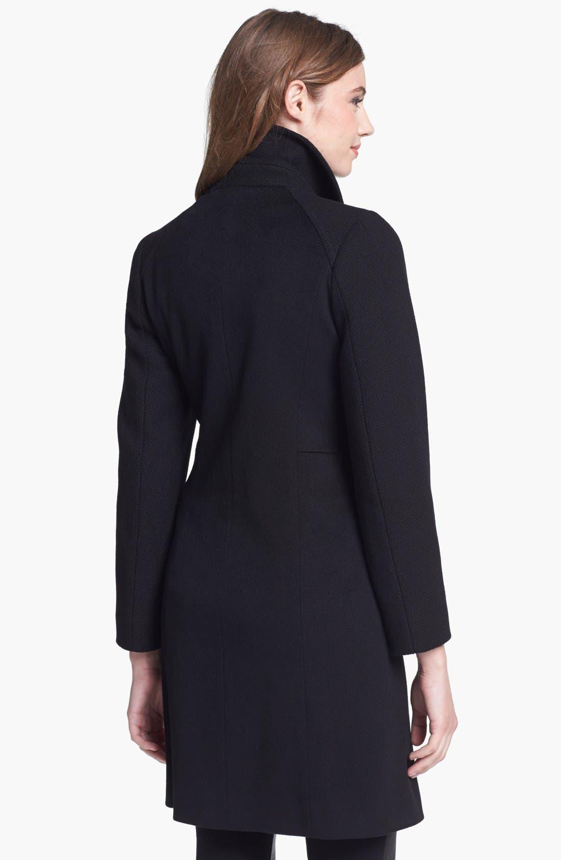 Alternate Image 2  - Cinzia Rocca Clip Front Wool Walking Coat (Petite)