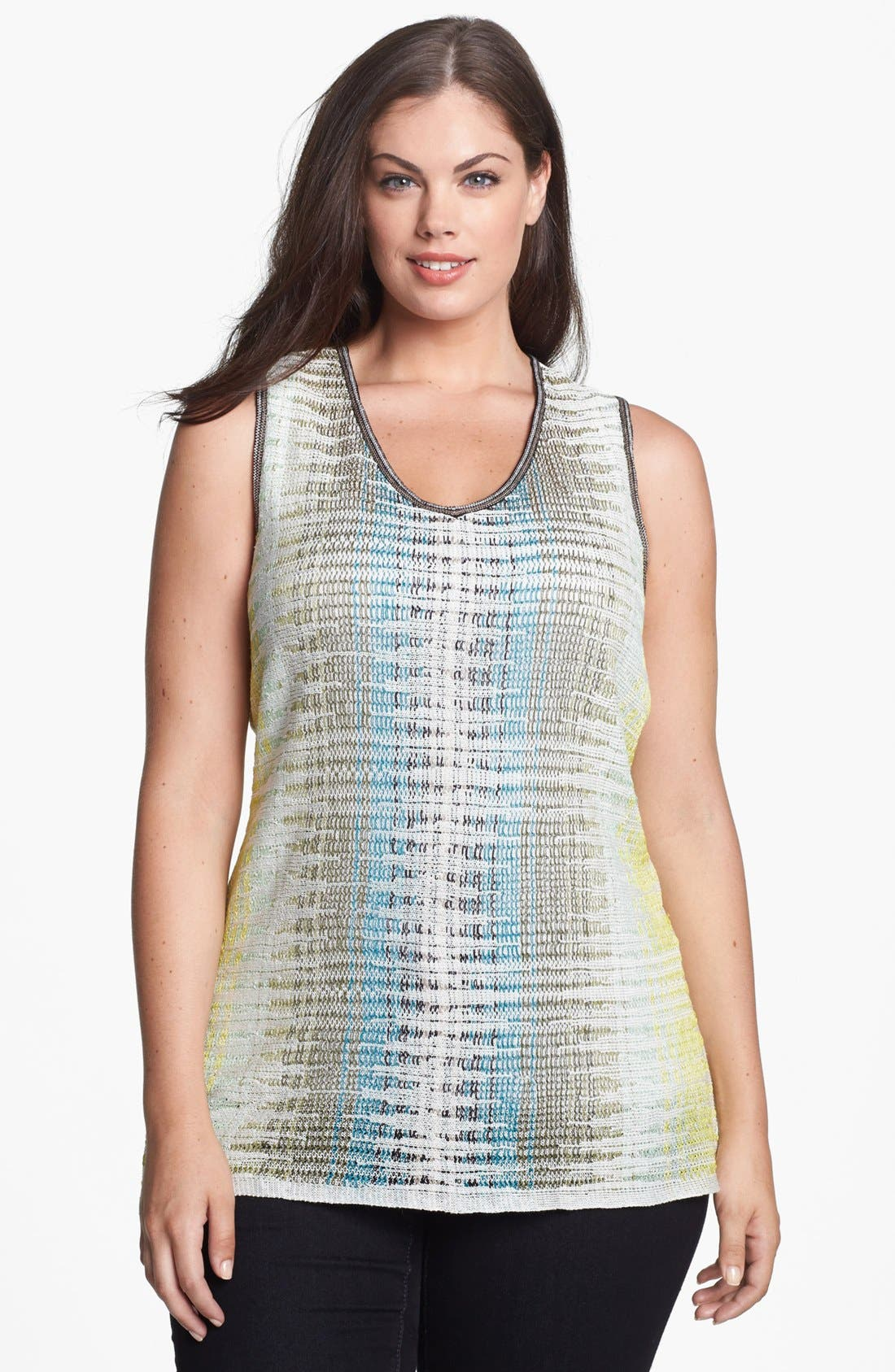 Alternate Image 1 Selected - NIC+ZOE 'Canopy' Sweater Tank (Plus Size)