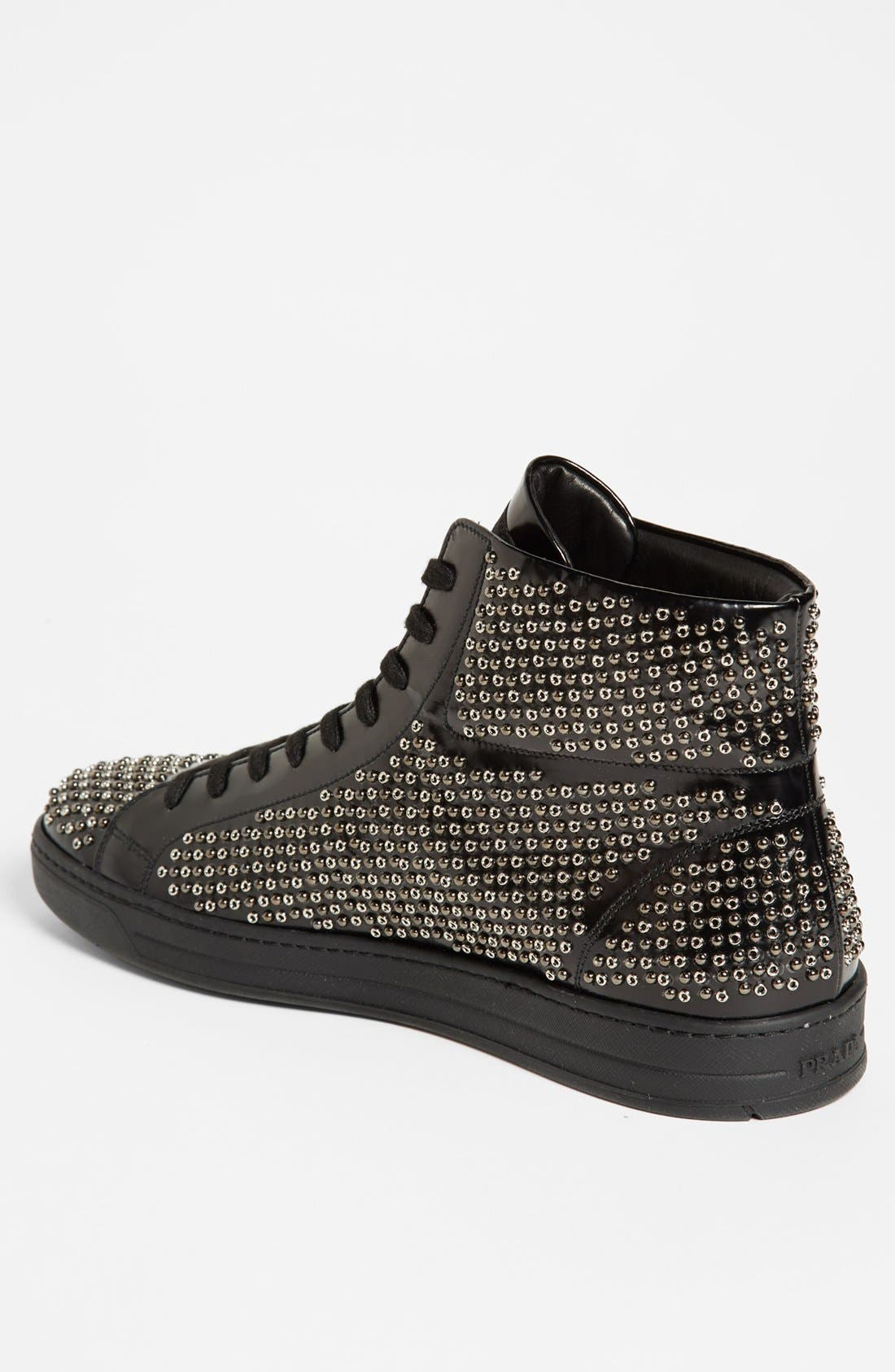 Alternate Image 2  - Prada Studded Sneaker