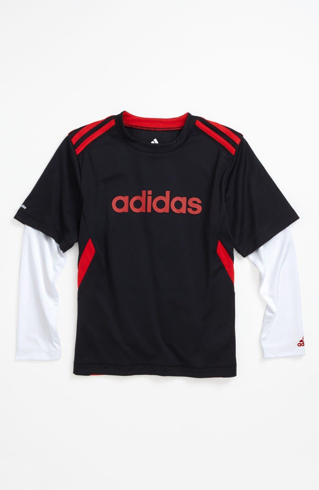 Main Image - adidas 'CLIMACore' T-Shirt (Little Boys)