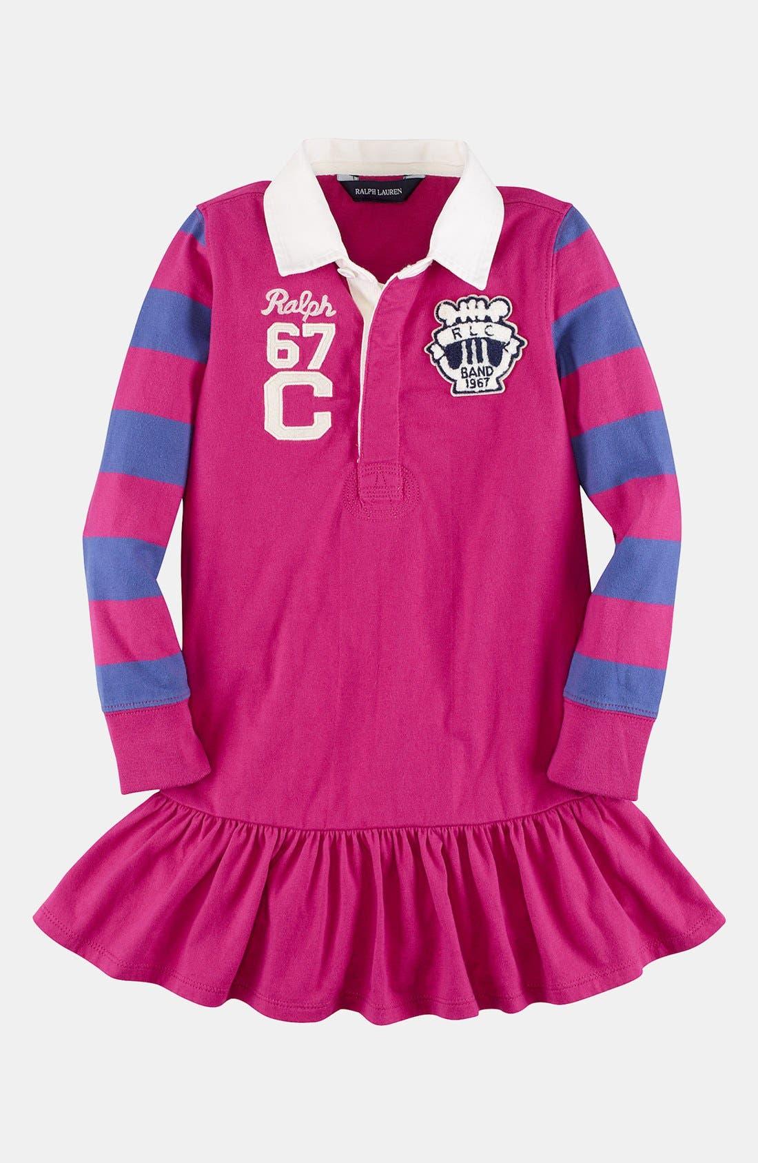 Alternate Image 1 Selected - Ralph Lauren Rugby Dress (Toddler Girls)