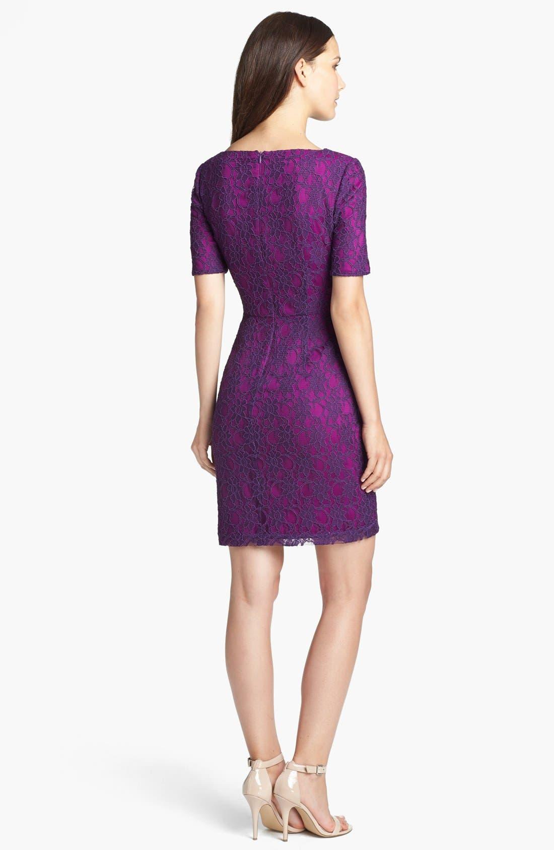 Alternate Image 2  - Ivy & Blu Lace Sheath Dress