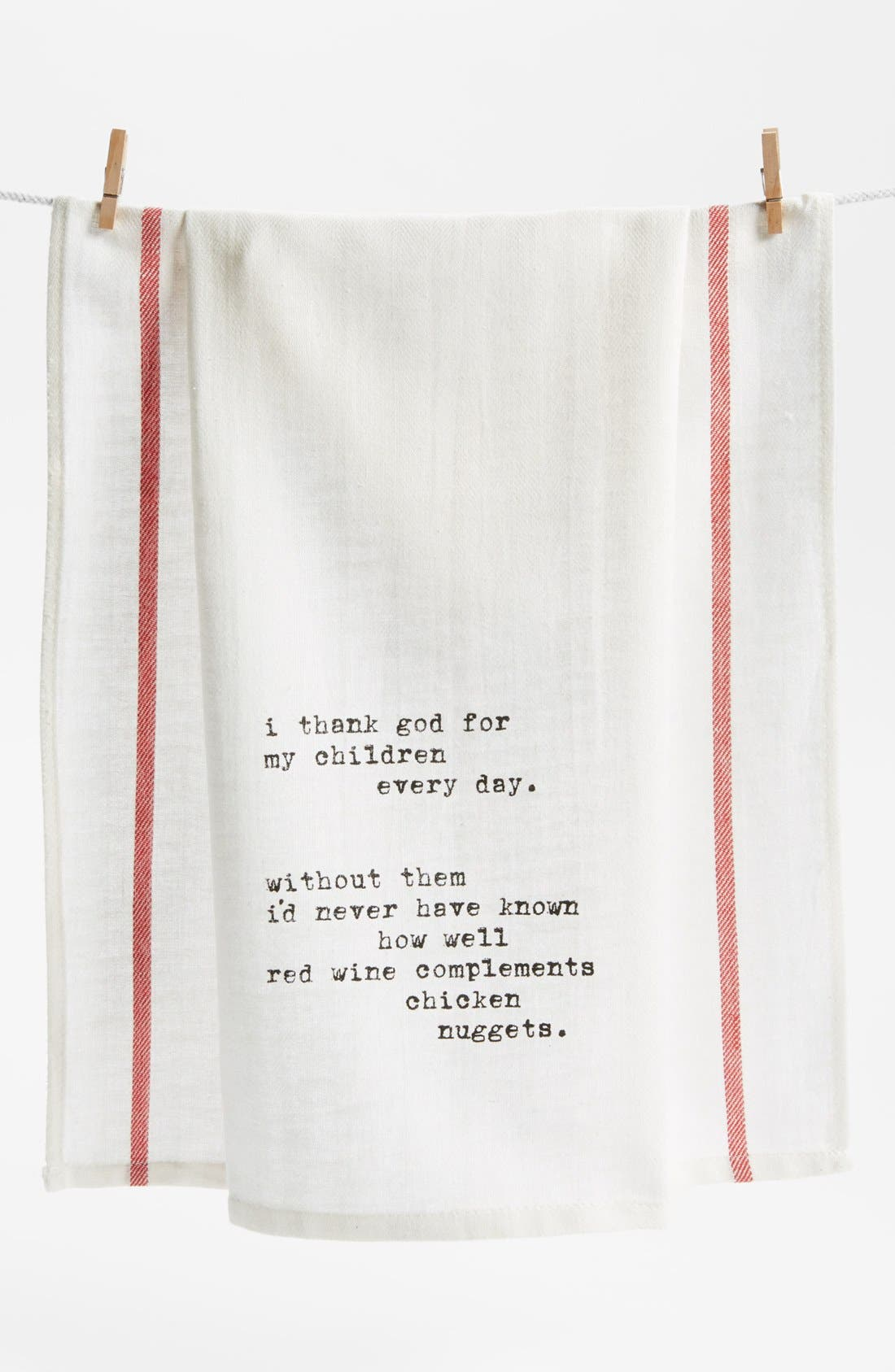 Alternate Image 1 Selected - Second Nature By Hand 'Thank God for Children' Towel