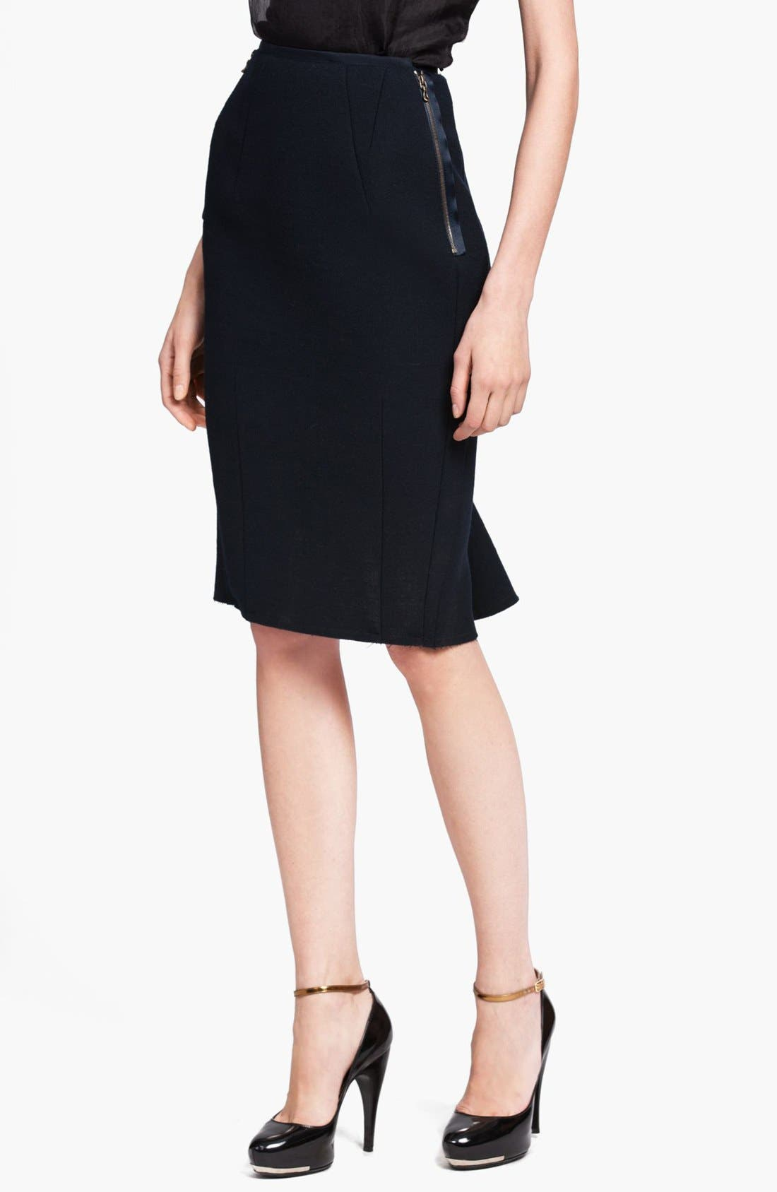 Alternate Image 1 Selected - Lanvin Bias Cut Wool Fishtail Skirt