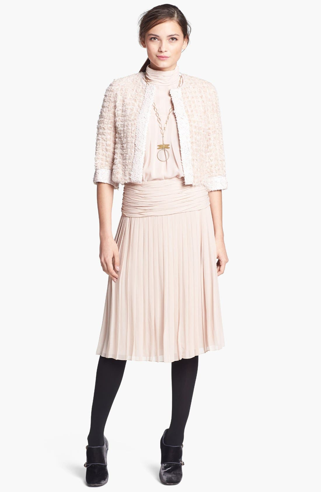 Alternate Image 3  - Tory Burch 'Jasmine' Pleated Silk Blouse