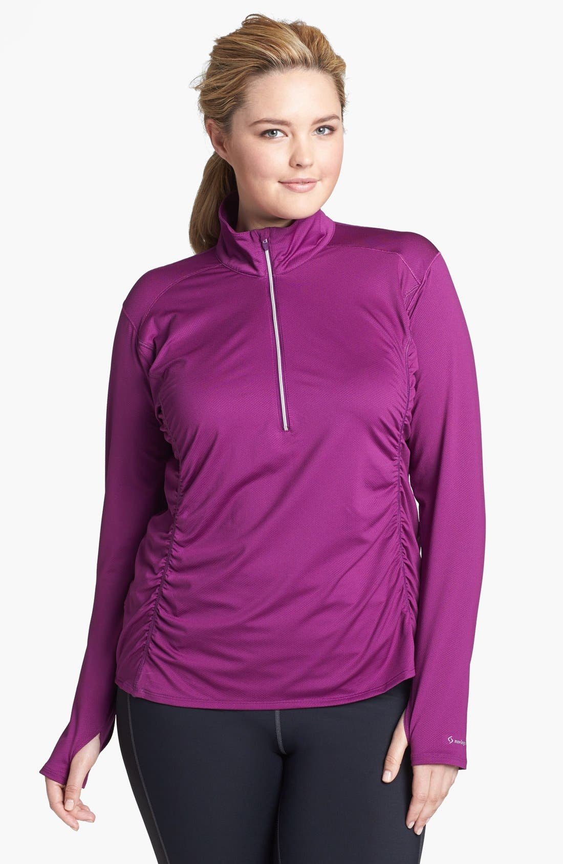 Alternate Image 1 Selected - Moving Comfort 'Sprint' Half Zip Pullover (Plus Size)