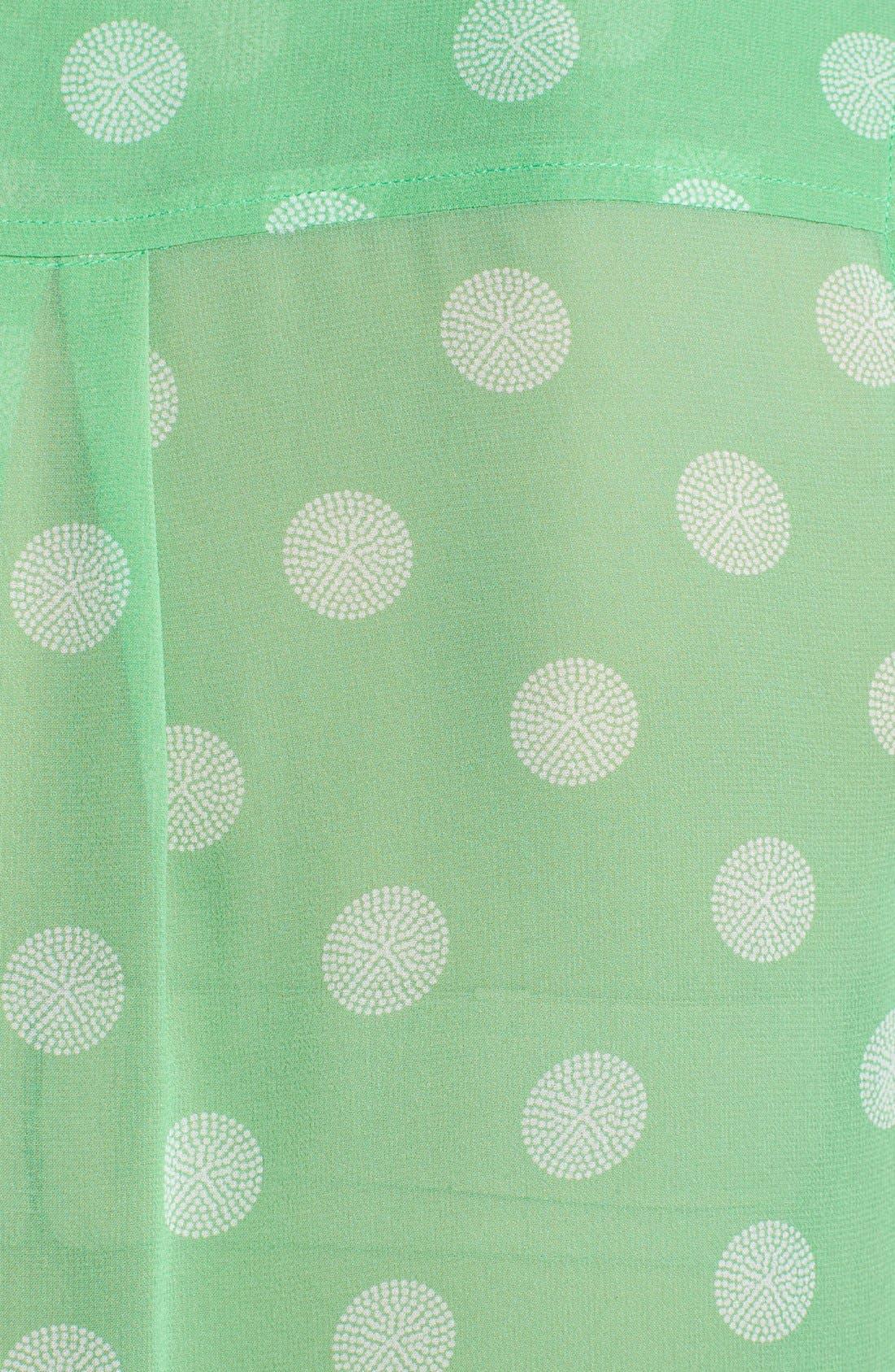 'Slim Signature' Silk Top,                             Alternate thumbnail 3, color,                             Irish Green