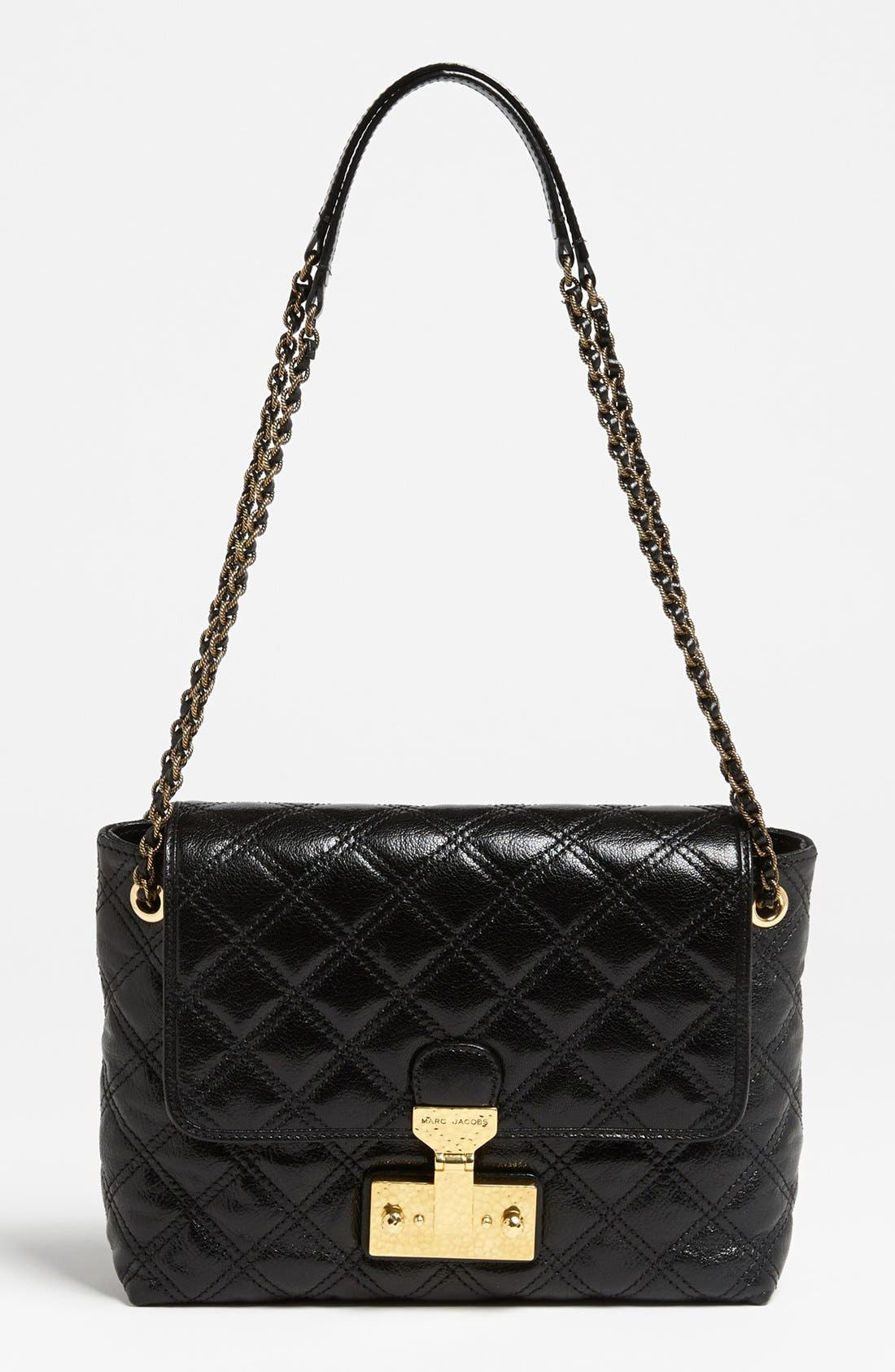 Main Image - MARC JACOBS 'Baroque Single - Large' Leather Shoulder Bag