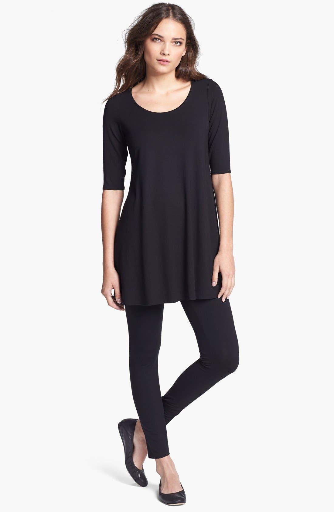 Alternate Image 4  - Eileen Fisher Scoop Neck Jersey Tunic (Regular & Petite)