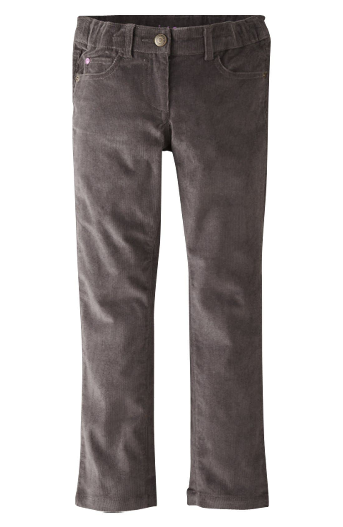 Alternate Image 1 Selected - Mini Boden Slim Fit Corduroy Pants (Toddler Girls, Little Girls & Big Girls)