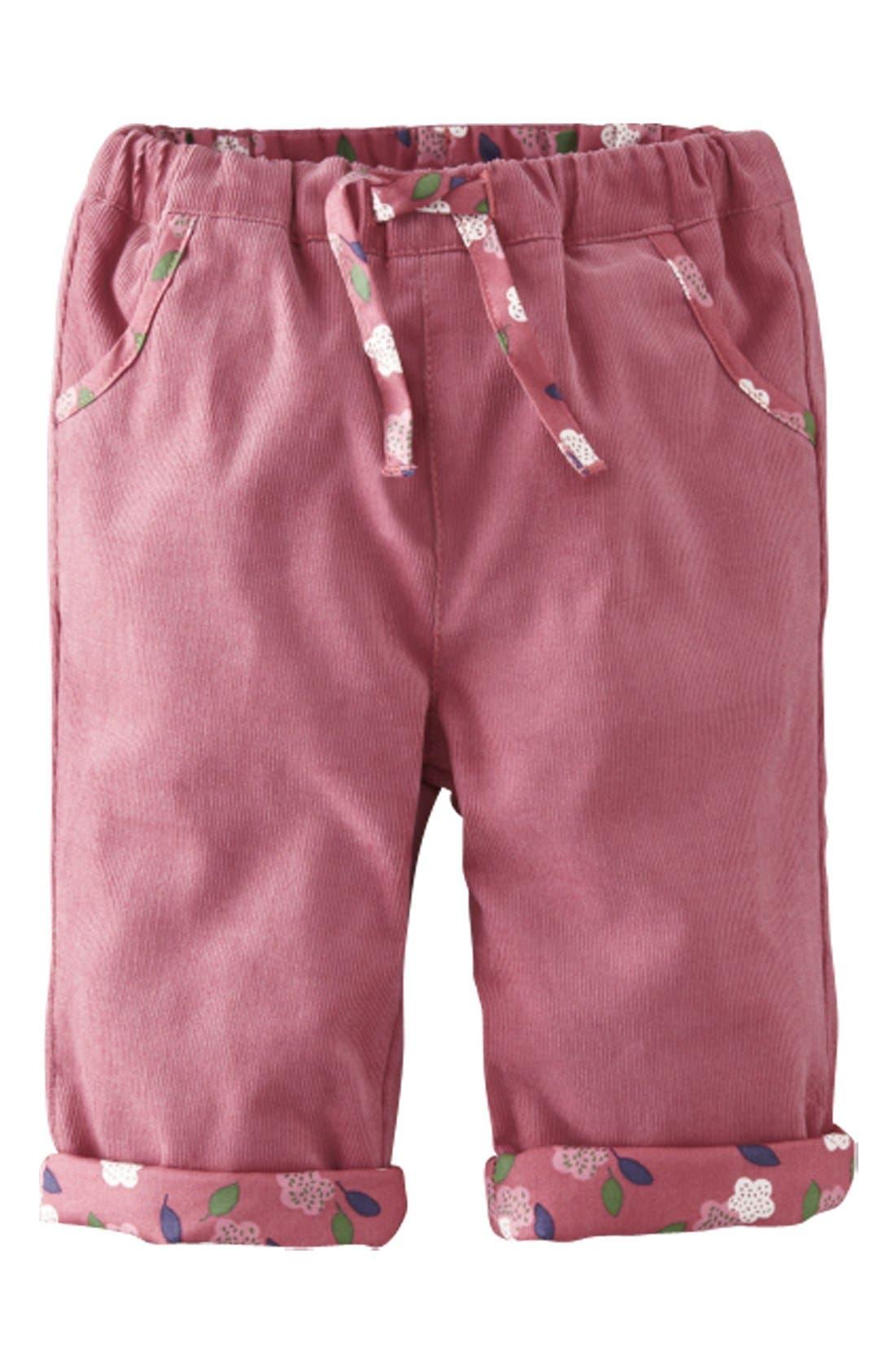 Alternate Image 1 Selected - Mini Boden Reversible Corduroy Pants (Baby Girls)