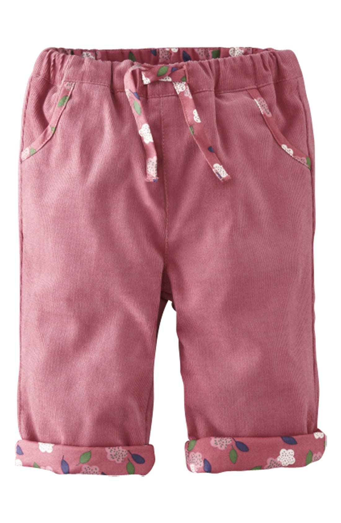 Main Image - Mini Boden Reversible Corduroy Pants (Baby Girls)