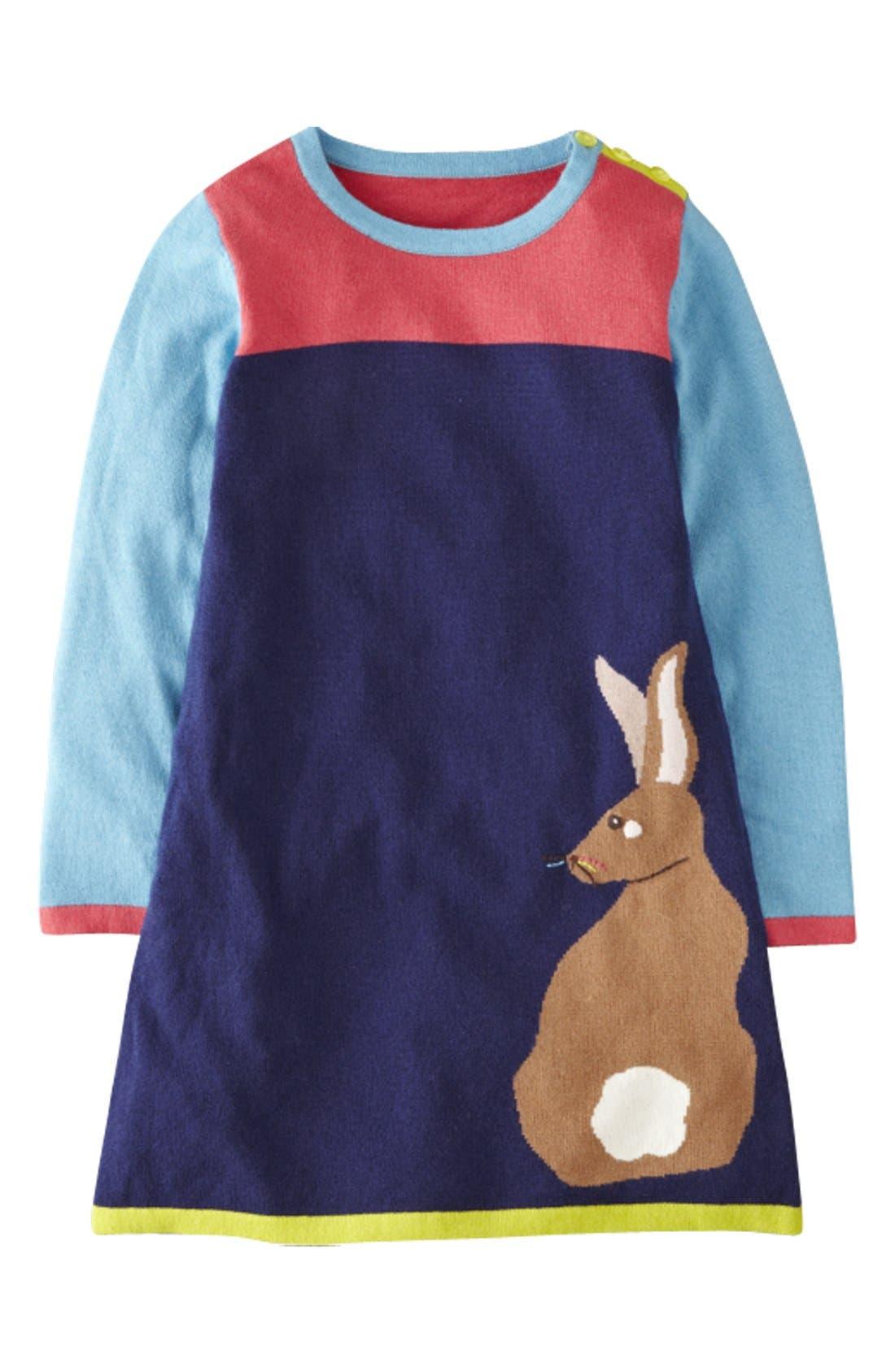 Alternate Image 1 Selected - Mini Boden 'Woodland' Knit Dress (Toddler Girls)