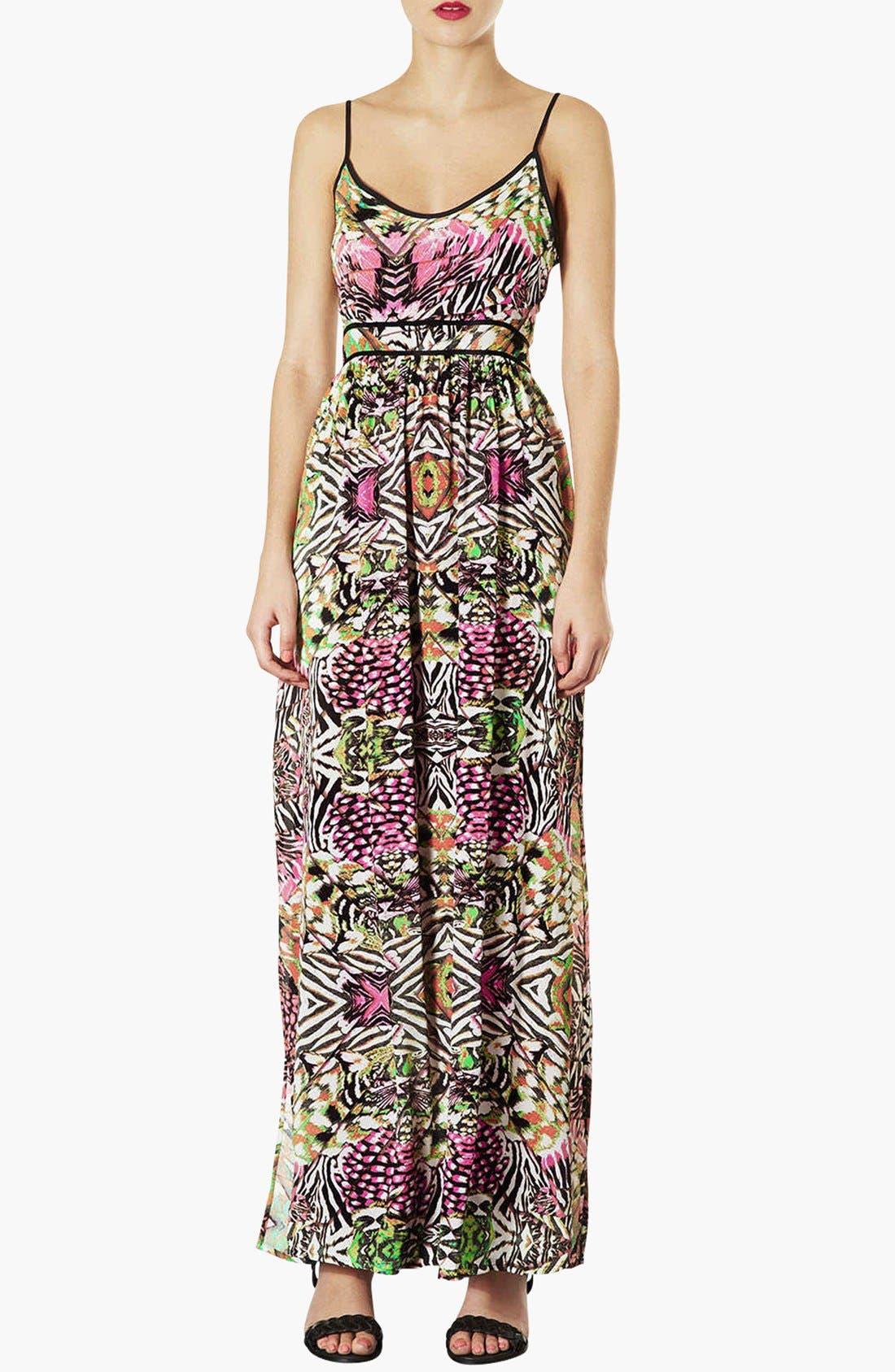 Alternate Image 1 Selected - Topshop 'Solarized' Print Maxi Dress