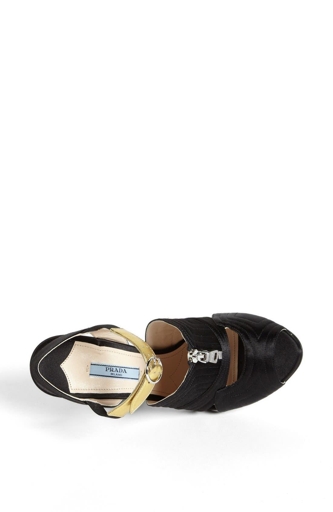Alternate Image 3  - Prada Quilted Zipper Sandal