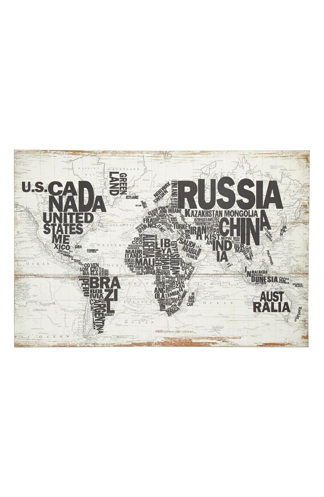 Alternate Image 1 Selected - World Map Wall Art