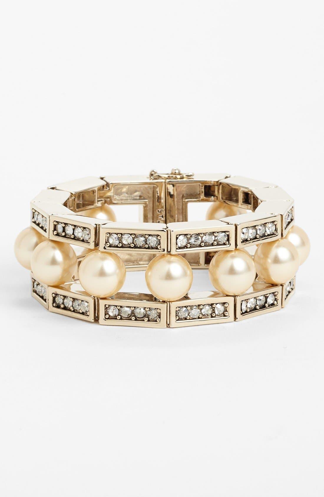 Alternate Image 1 Selected - St. John Collection Crystal & Glass Pearl Bracelet