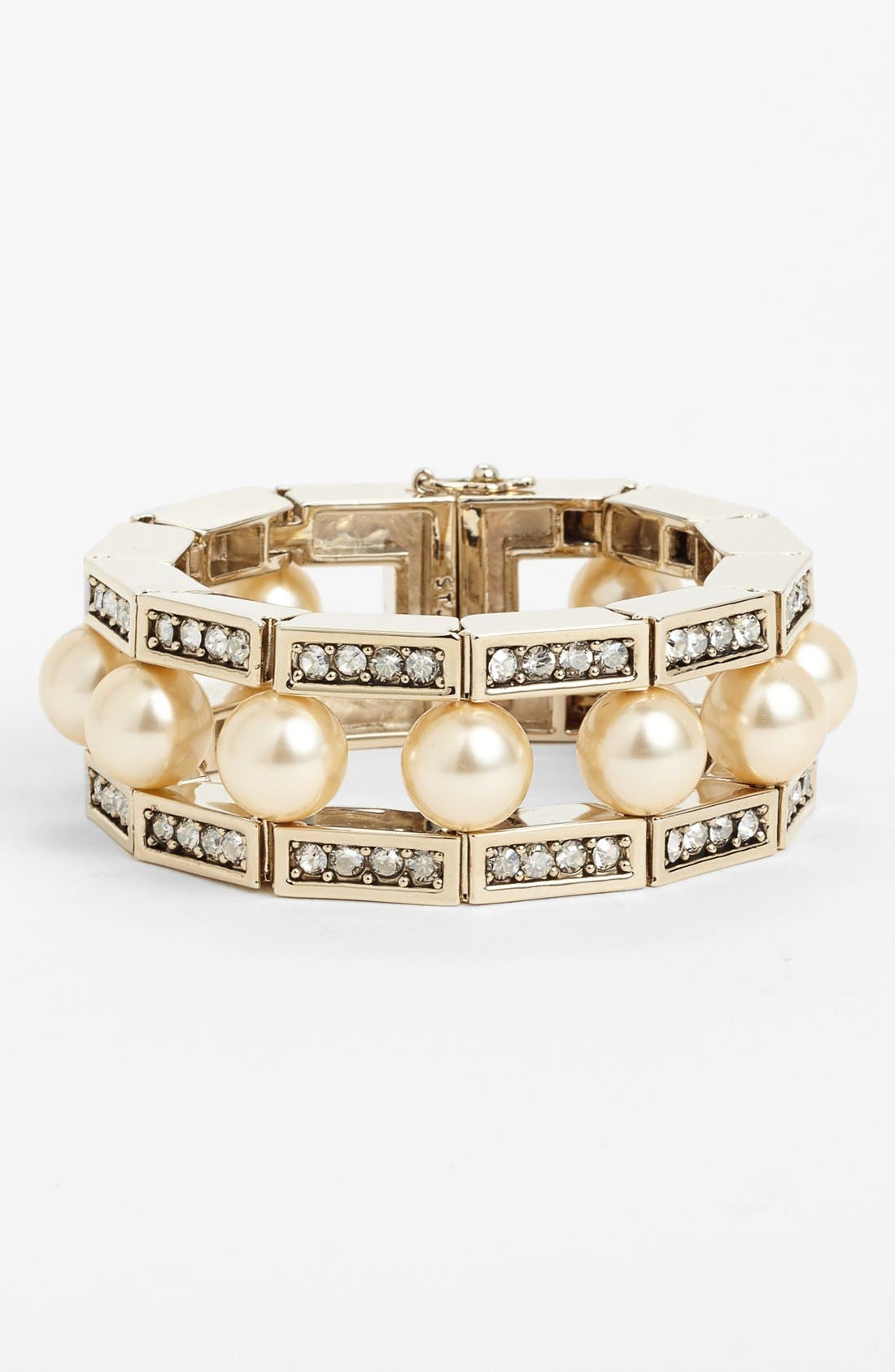 Main Image - St. John Collection Crystal & Glass Pearl Bracelet