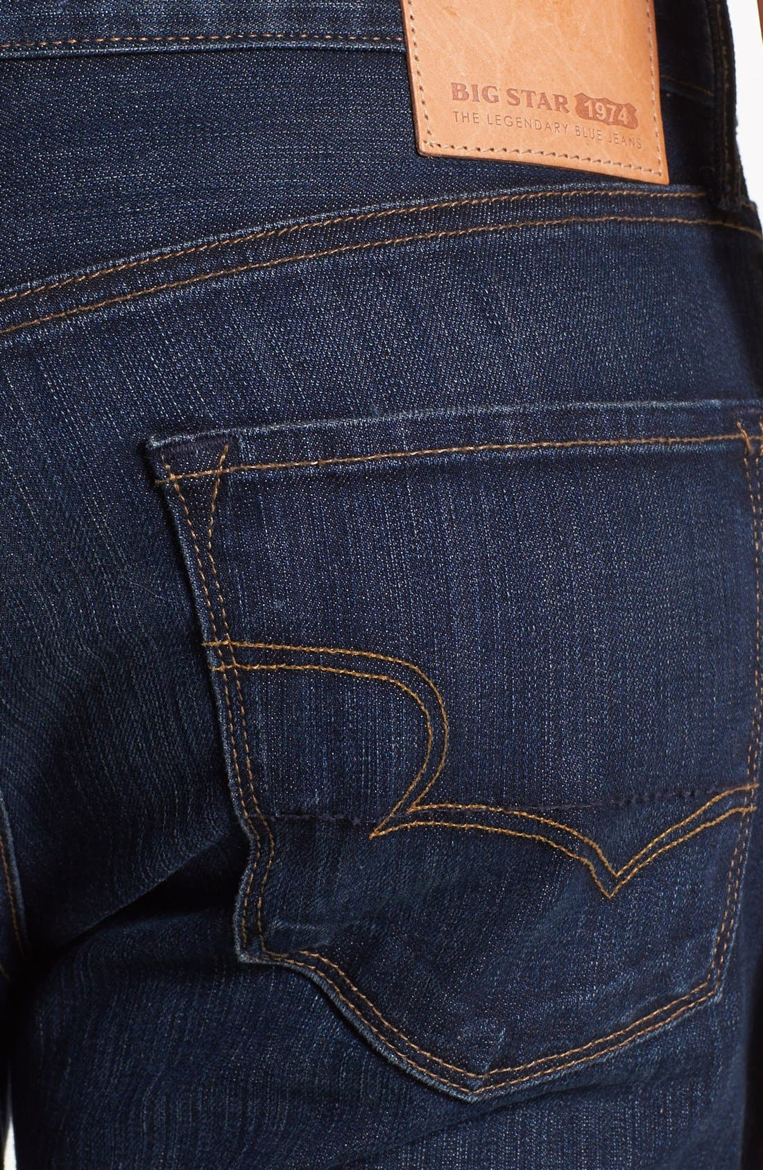 Alternate Image 4  - Big Star 'Union' Regular Straight Leg Jeans (Curtis Dark)