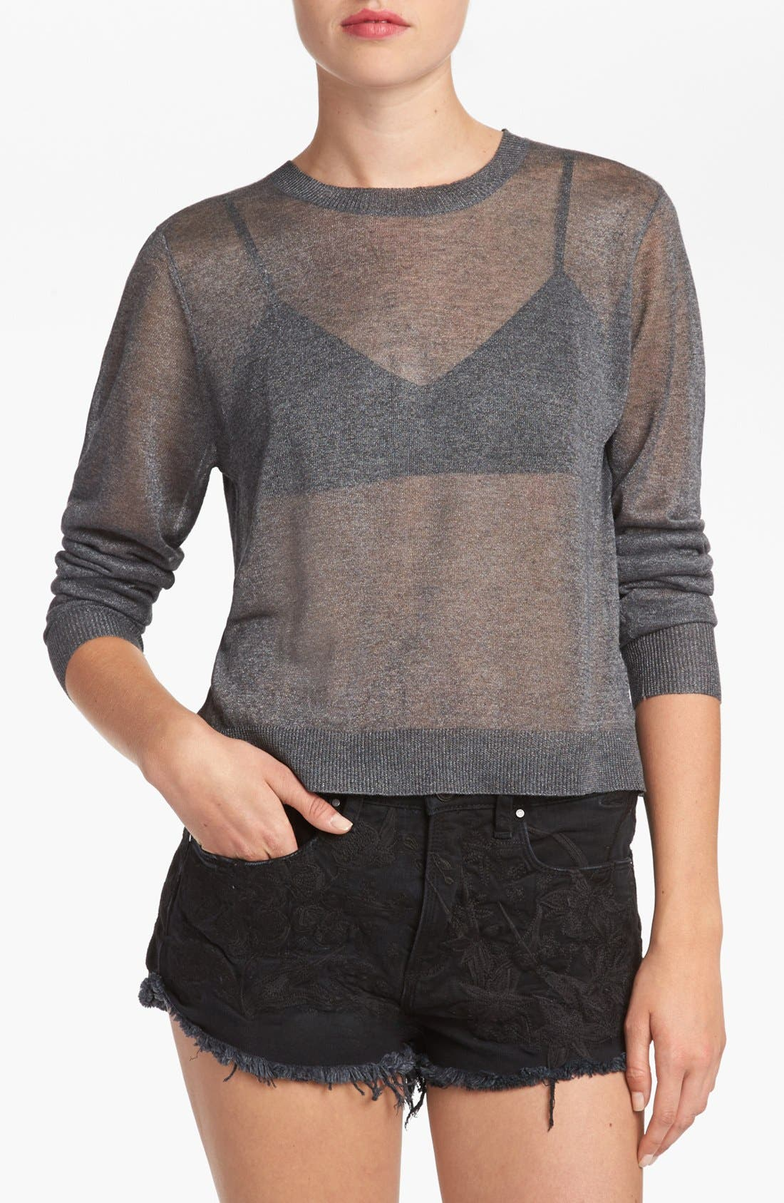 Alternate Image 1 Selected - Leith Split Back Crop Sweater
