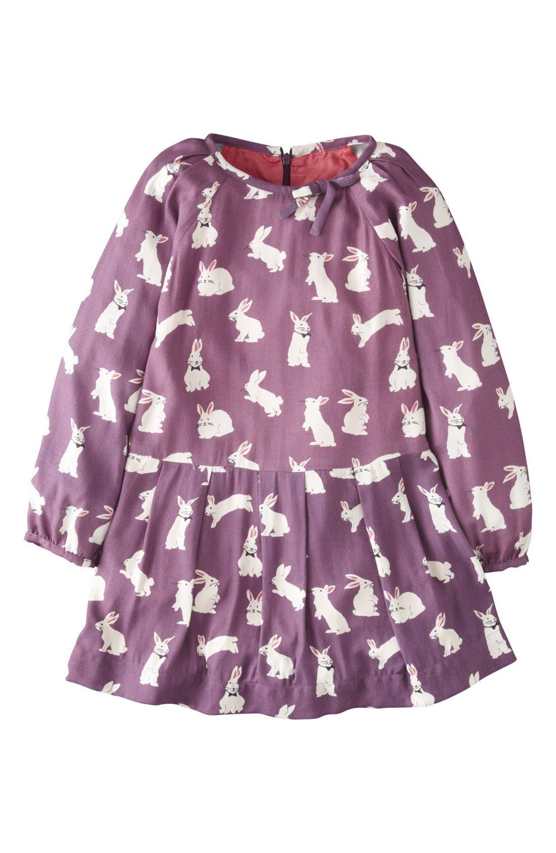 Main Image - Mini Boden 'Twenties' Long Sleeve Dress (Little Girls & Big Girls)