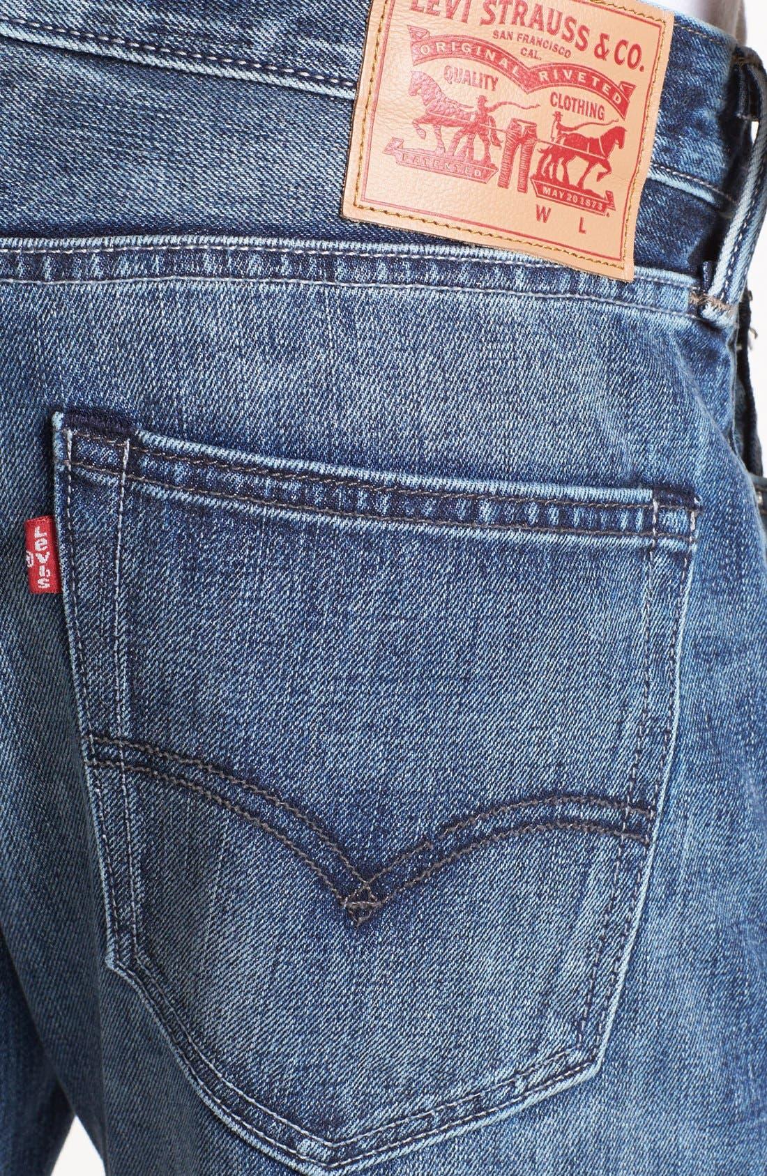 Alternate Image 4  - Levi's® '508™' Skinny Fit Jeans (Splattered)
