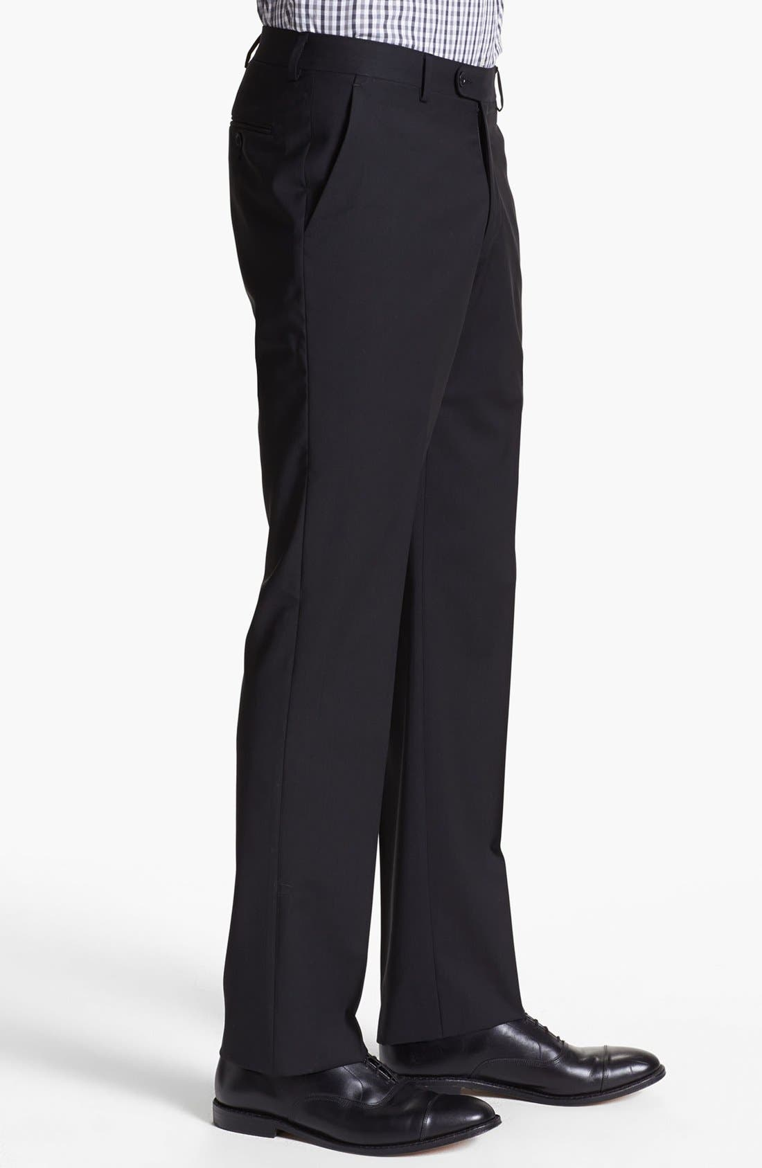 Alternate Image 4  - John Varvatos Star USA 'Astor' Flat Front Wool Trousers