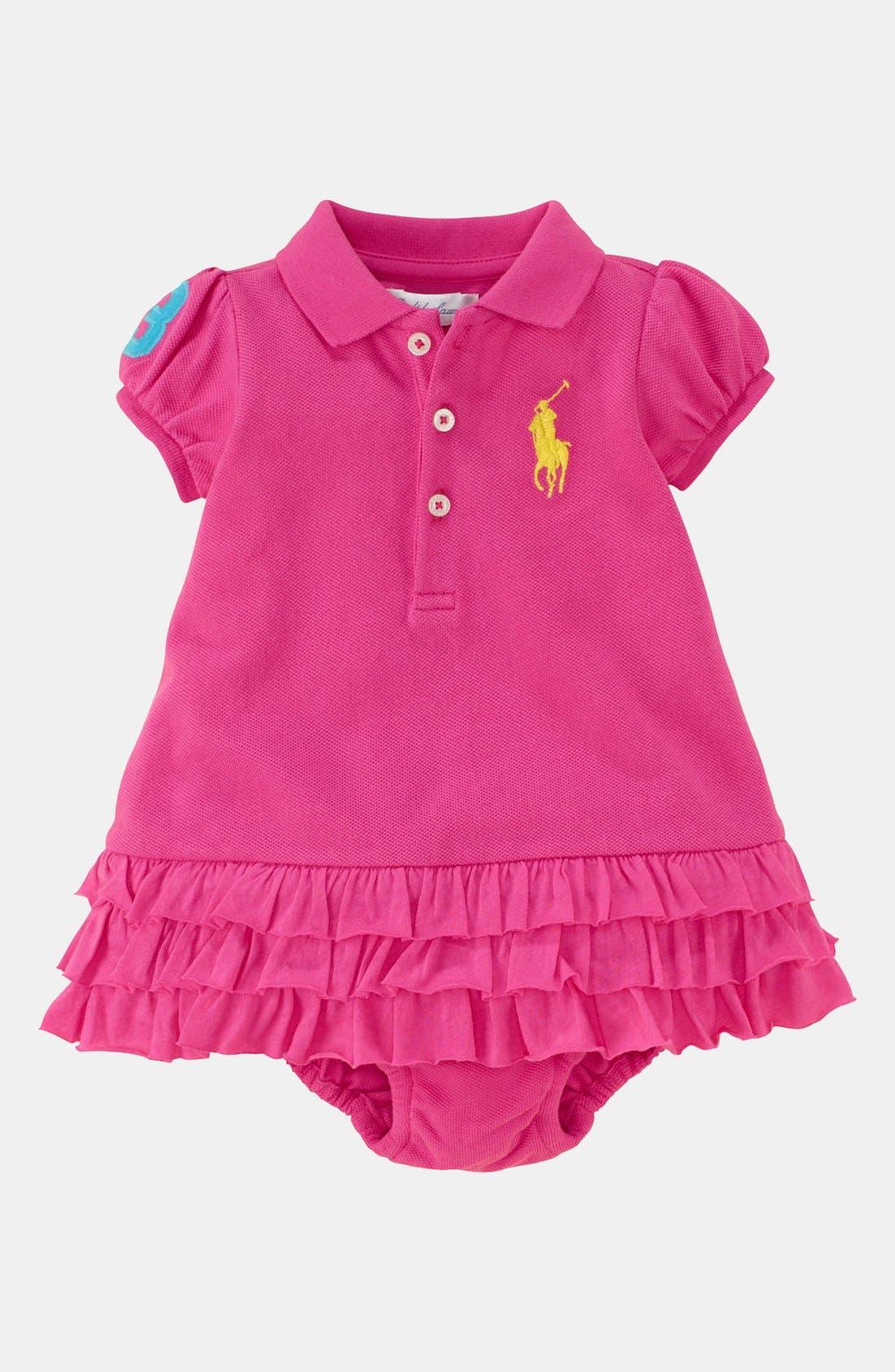 Main Image - Ralph Lauren Polo Dress & Bloomers (Baby)