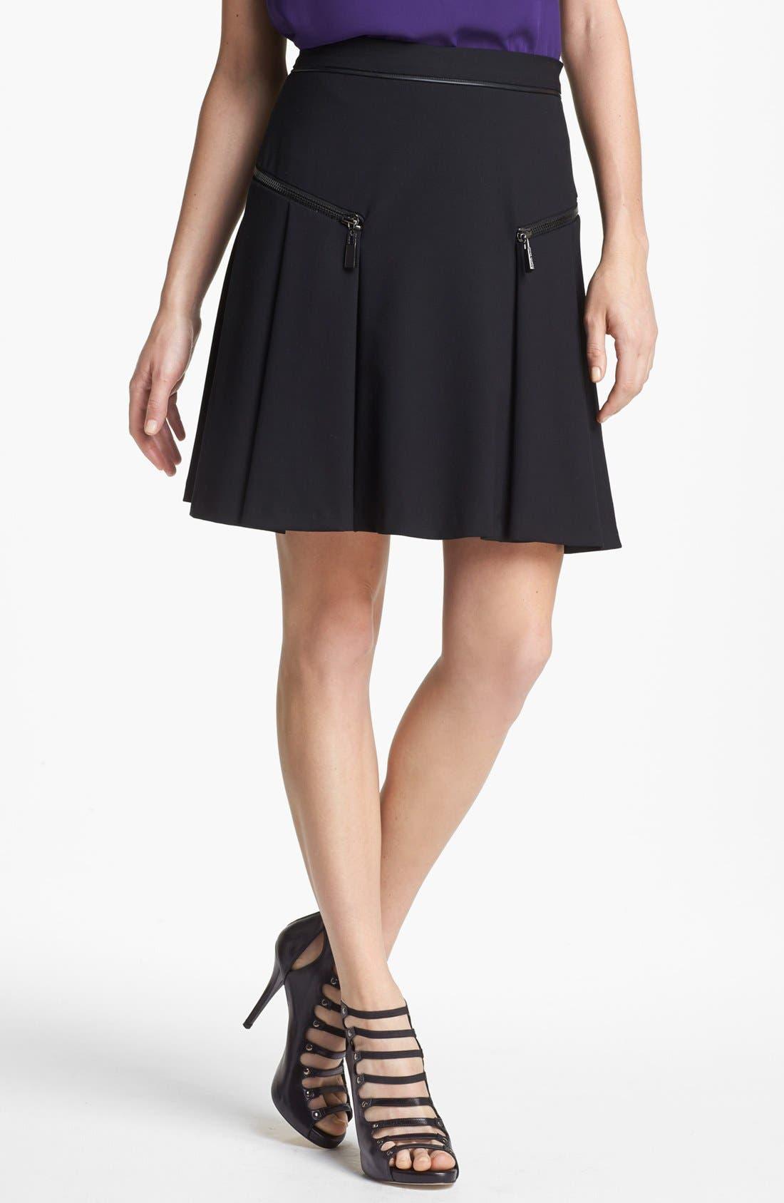 Alternate Image 1 Selected - Vince Camuto Zip Trim Skirt