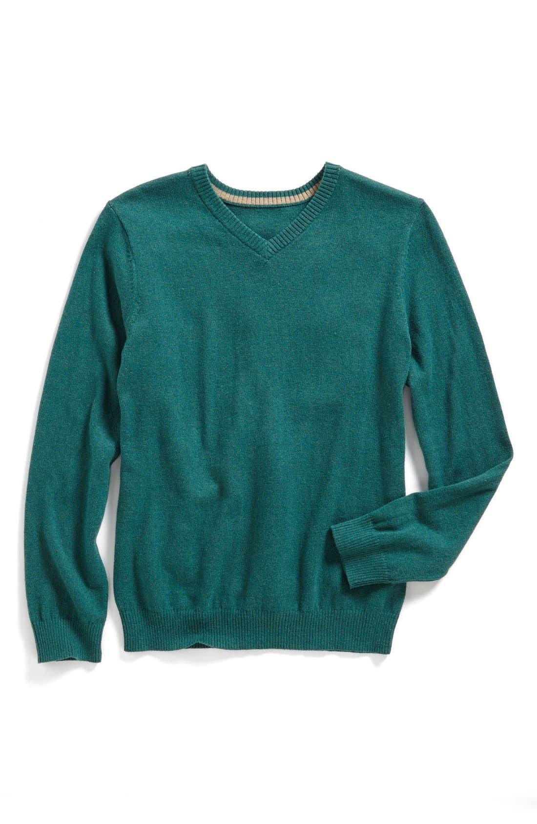 Alternate Image 1 Selected - Tucker + Tate 'Atticus' Cotton & Cashmere Sweater (Little Boys)