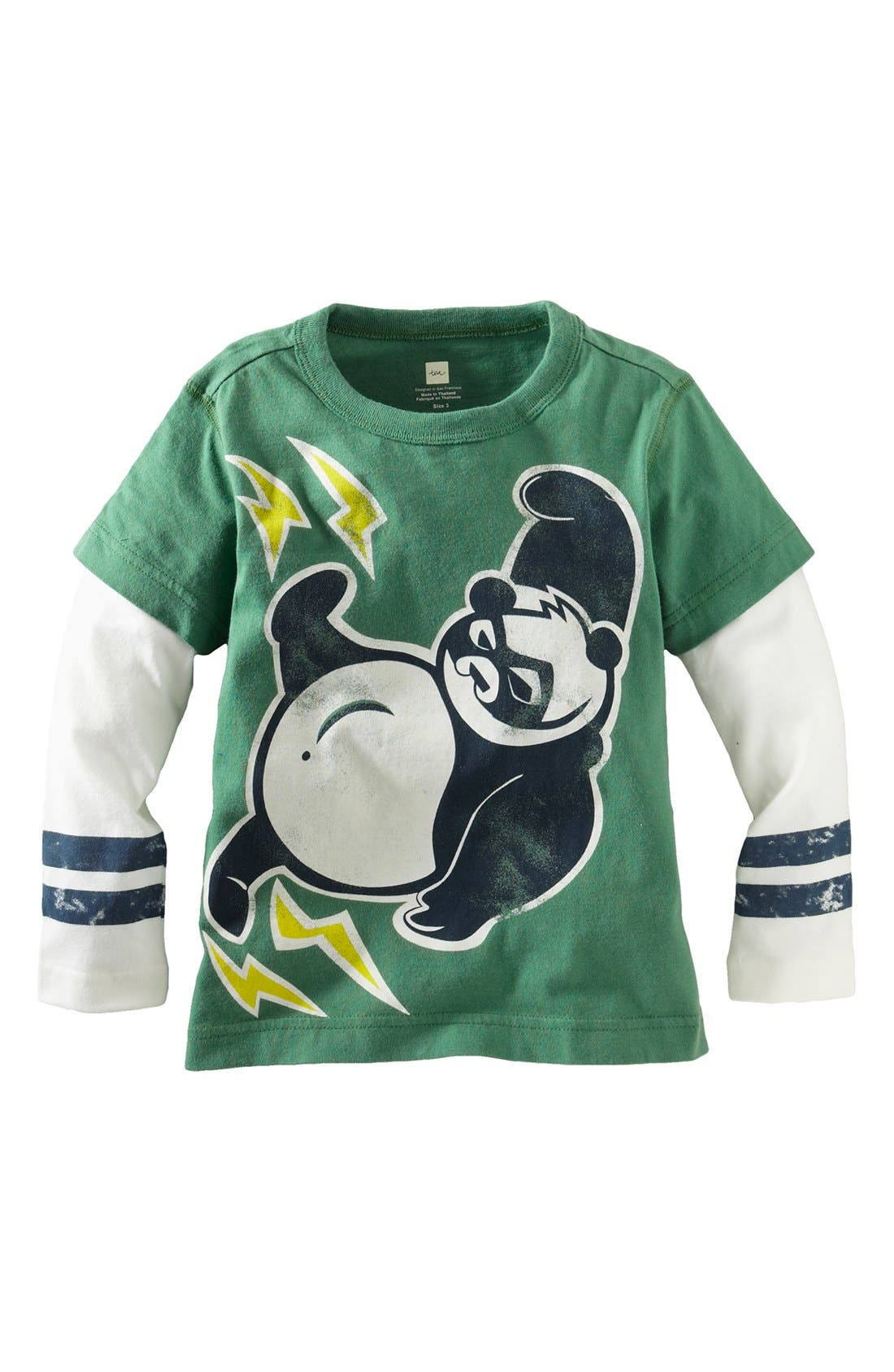Main Image - Tea Collection 'Super Panda Double Decker' T-Shirt (Toddler Boys)