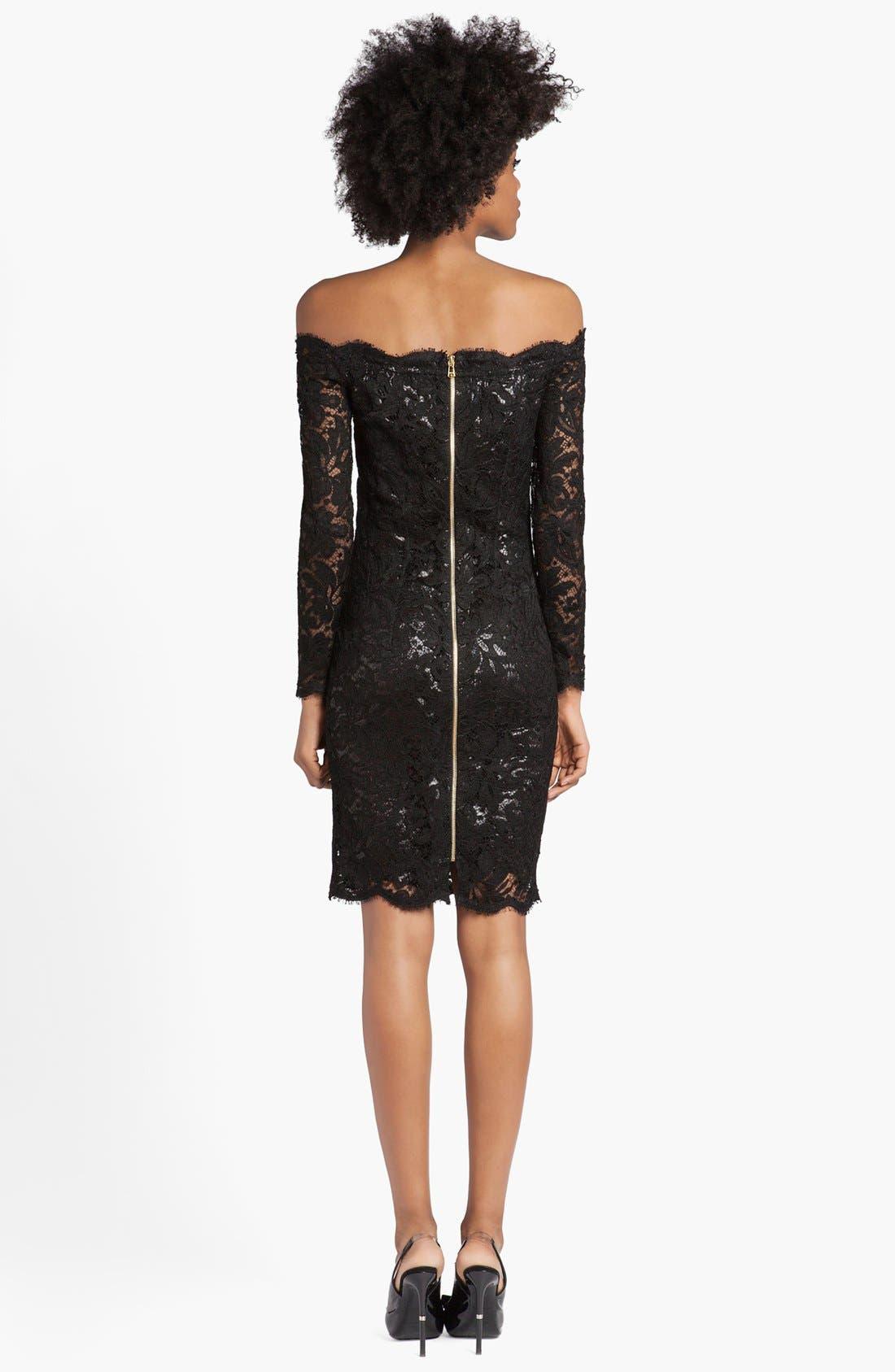 Alternate Image 2  - Emilio Pucci Lace & Lamé Off Shoulder Dress