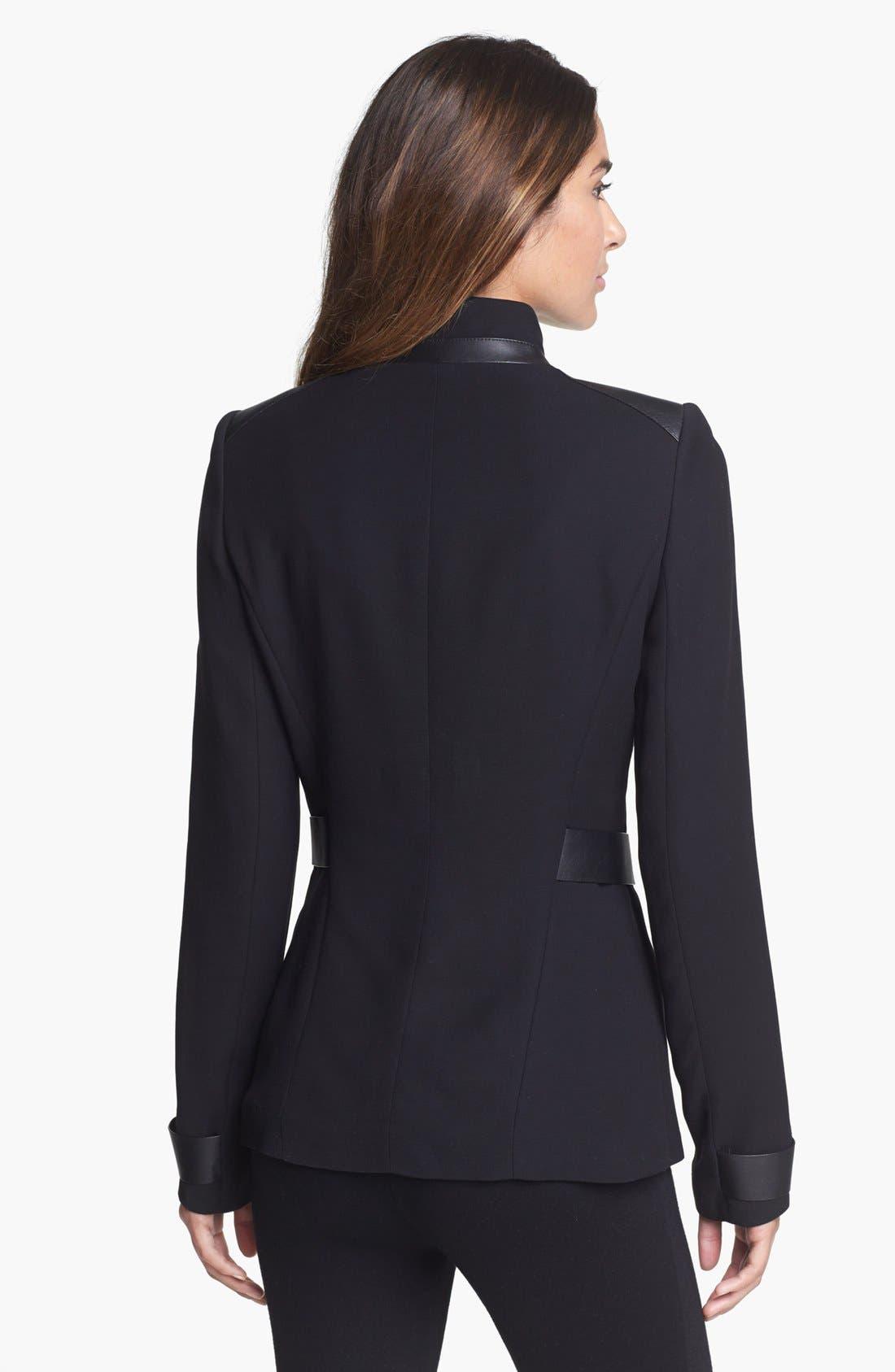 Alternate Image 2  - Lafayette 148 New York 'Wanda' Leather Trim Jacket