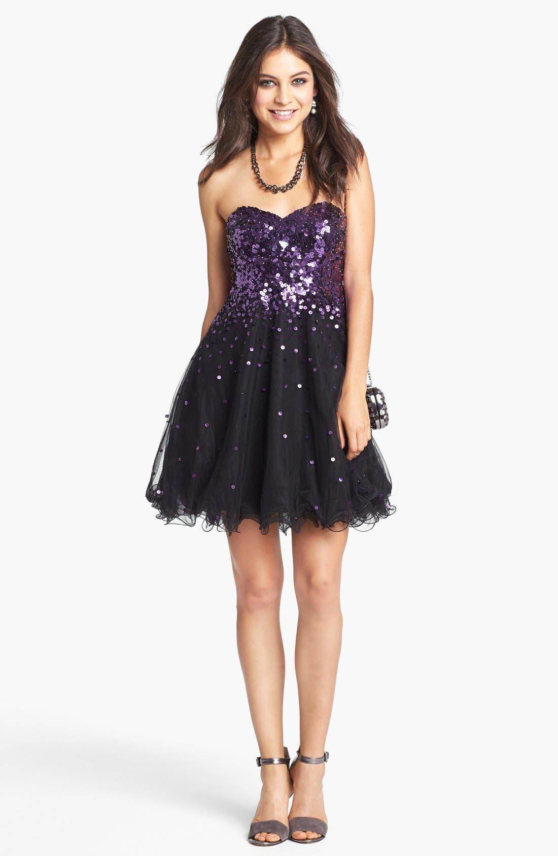 Alternate Image 3  - Sean Collection Embellished Tulle Fit & Flare Dress