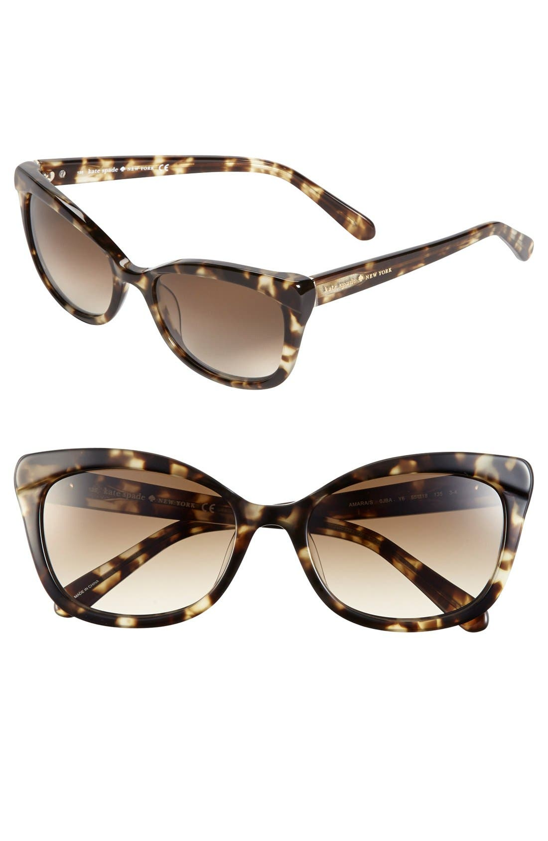 Alternate Image 1 Selected - kate spade new york 'amaras' 55mm sunglasses