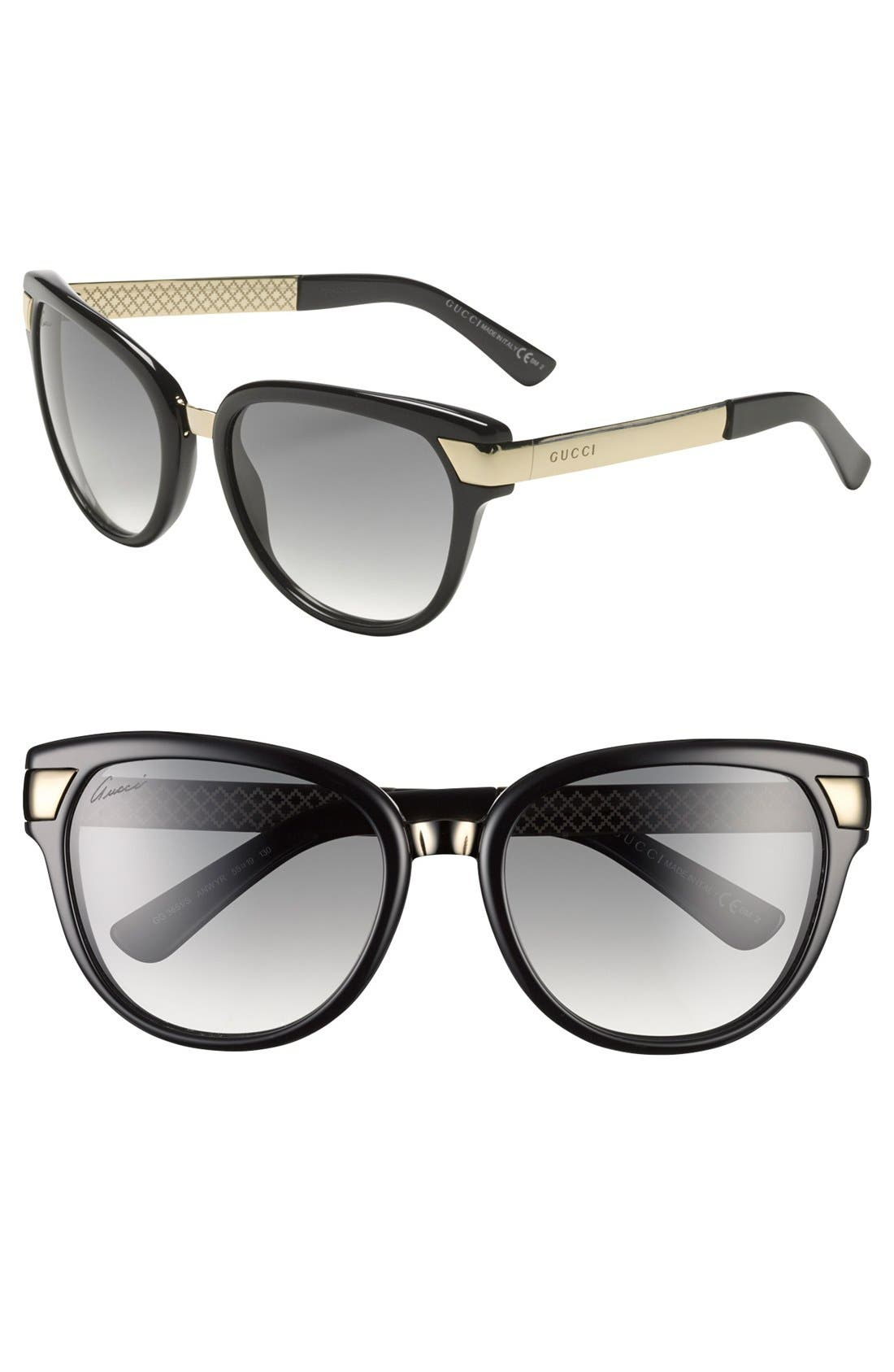 Alternate Image 1 Selected - Gucci 55mm Sunglasses