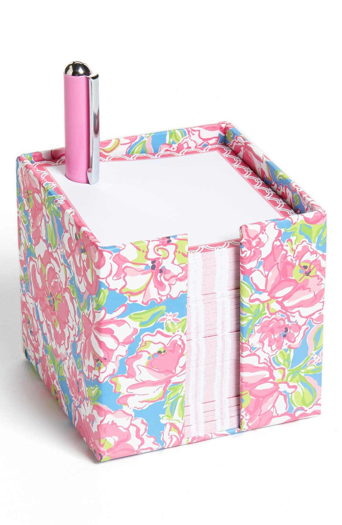 Main Image - Lilly Pulitzer® Note Cube with Pen