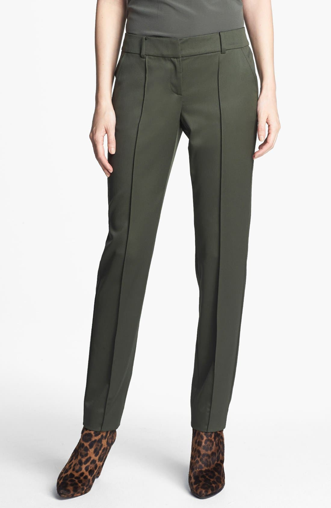 Main Image - St. John Collection 'Carine' Venetian Wool Ankle Pants