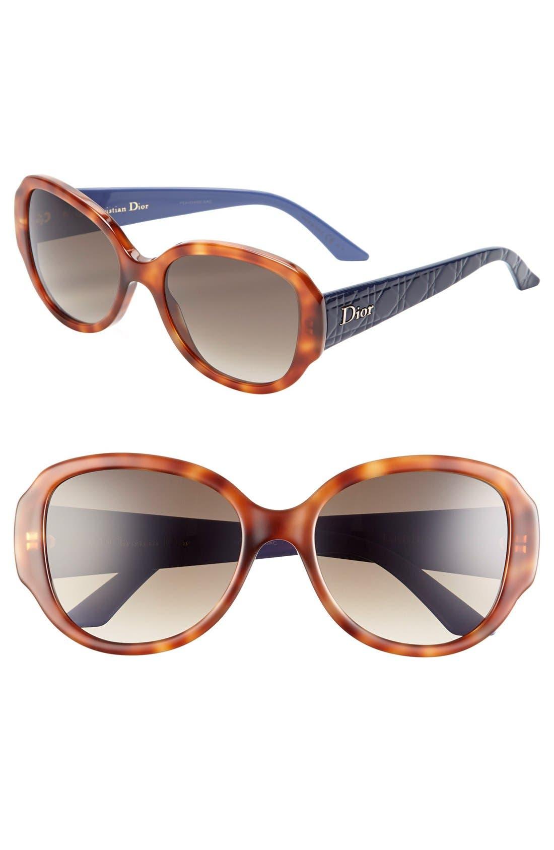 Main Image - Dior 'Lady in Dior' 55mm Sunglasses