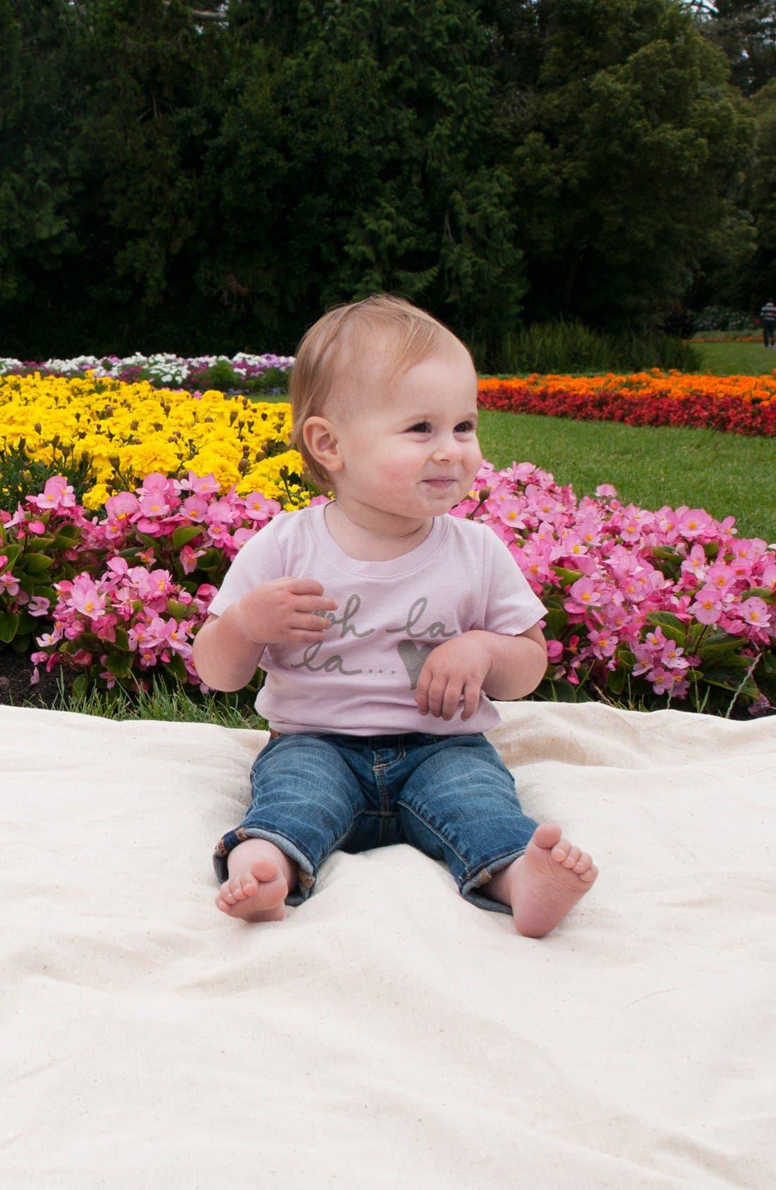 Alternate Image 2  - Peek Tee & Jeans (Baby Girls)