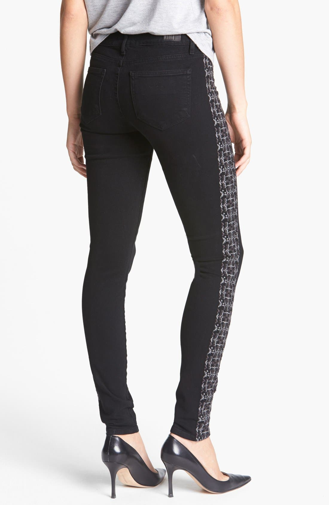 Alternate Image 2  - Paige Denim 'Verdugo' Embroidered Ultra Skinny Jeans (Caliente Embroidery)