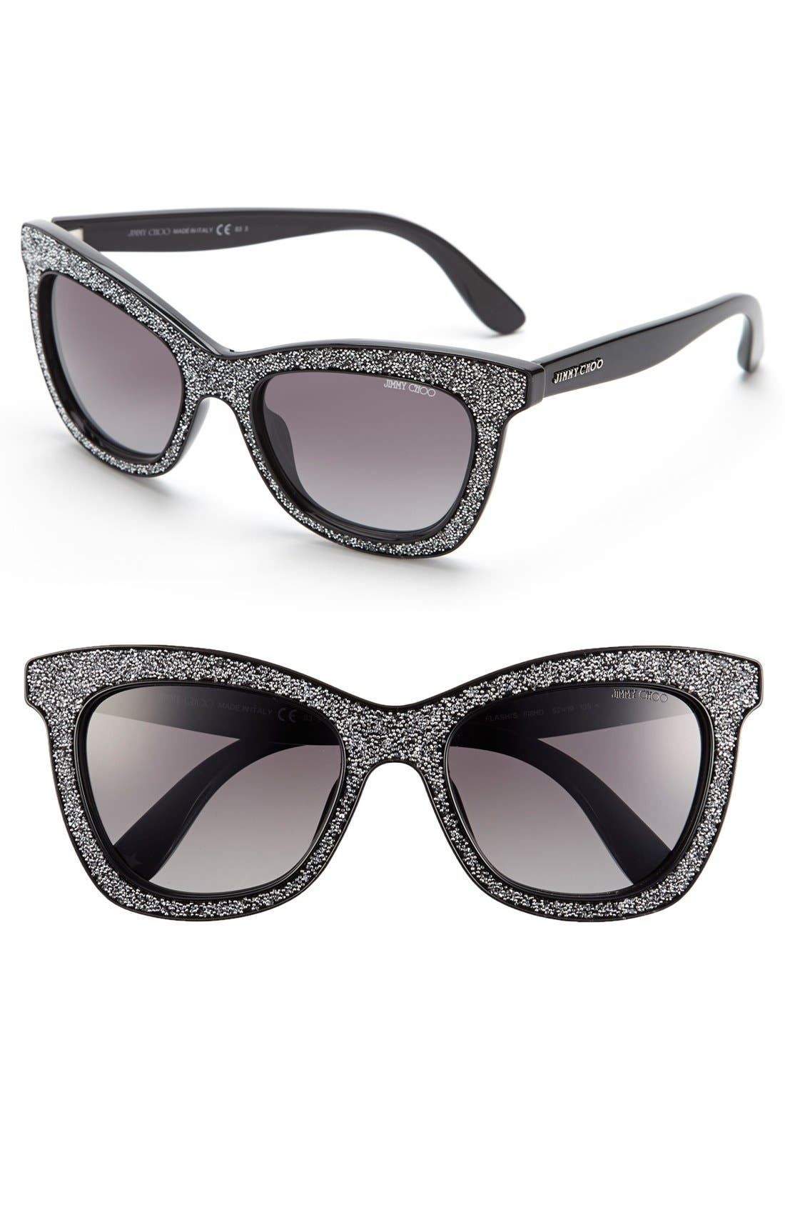 Alternate Image 1 Selected - Jimmy Choo 'Flash' 52mm Sunglasses