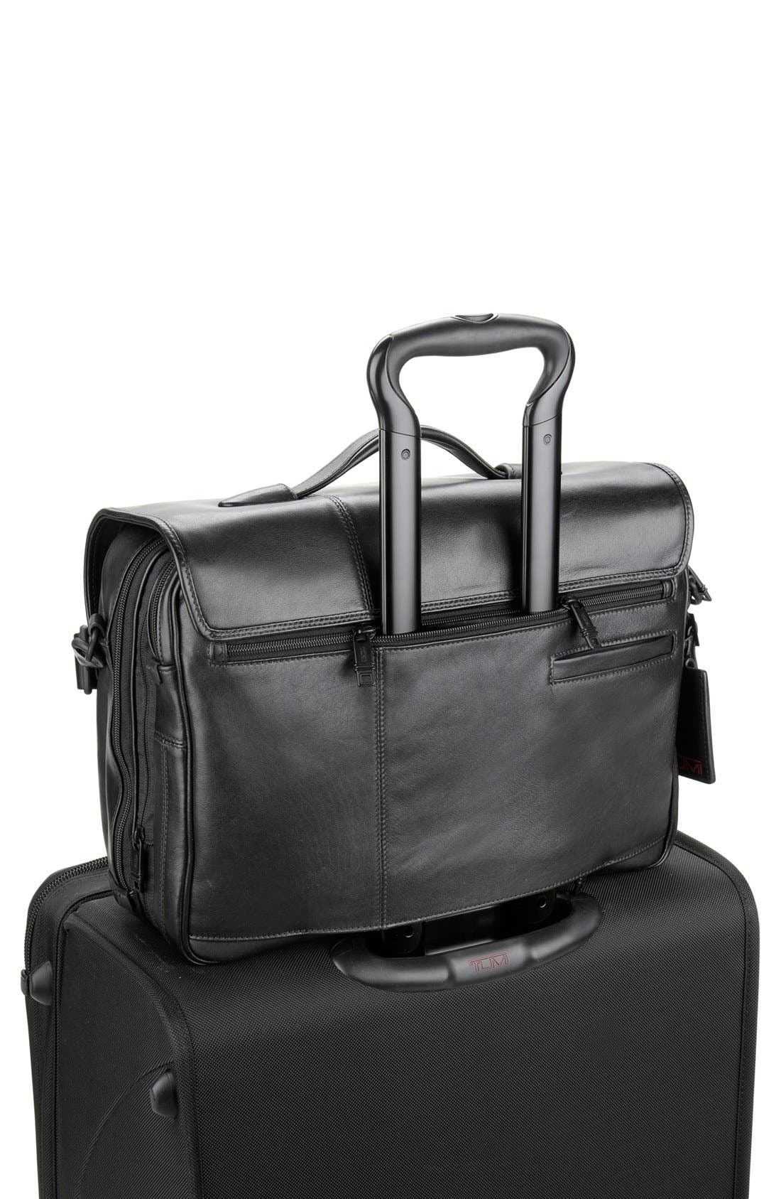 Alternate Image 4  - Tumi 'Alpha' Split Flap Expandable Leather Briefcase
