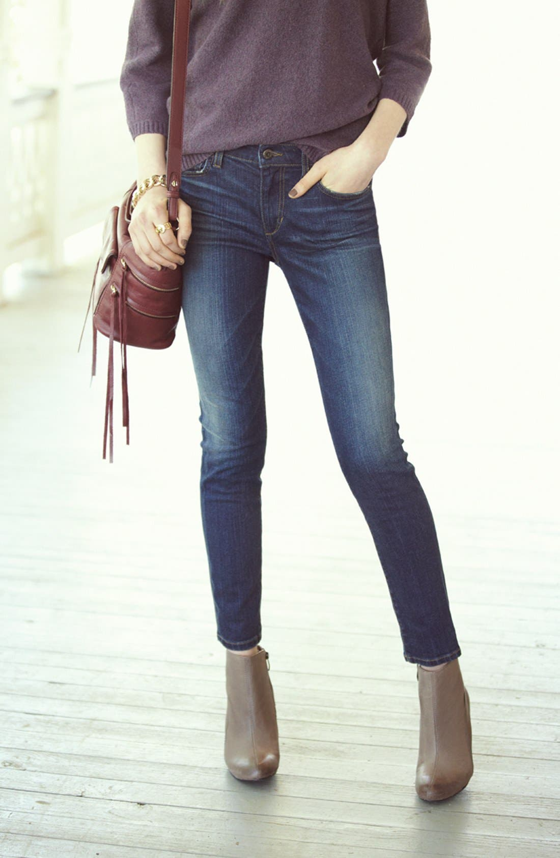 Alternate Image 4  - Joe's Skinny Ankle Jeans (Margaux)