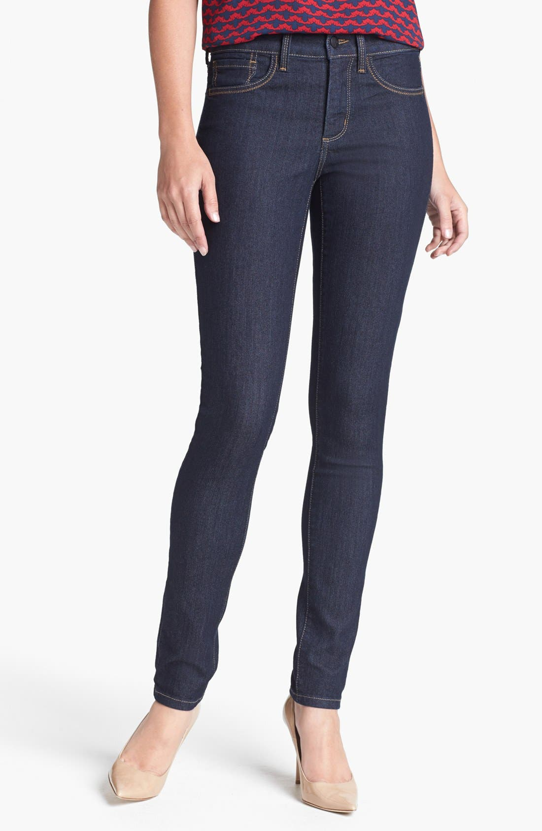 Alternate Image 1 Selected - NYDJ 'Ami' Stretch Skinny Jeans (Dark Enzyme)