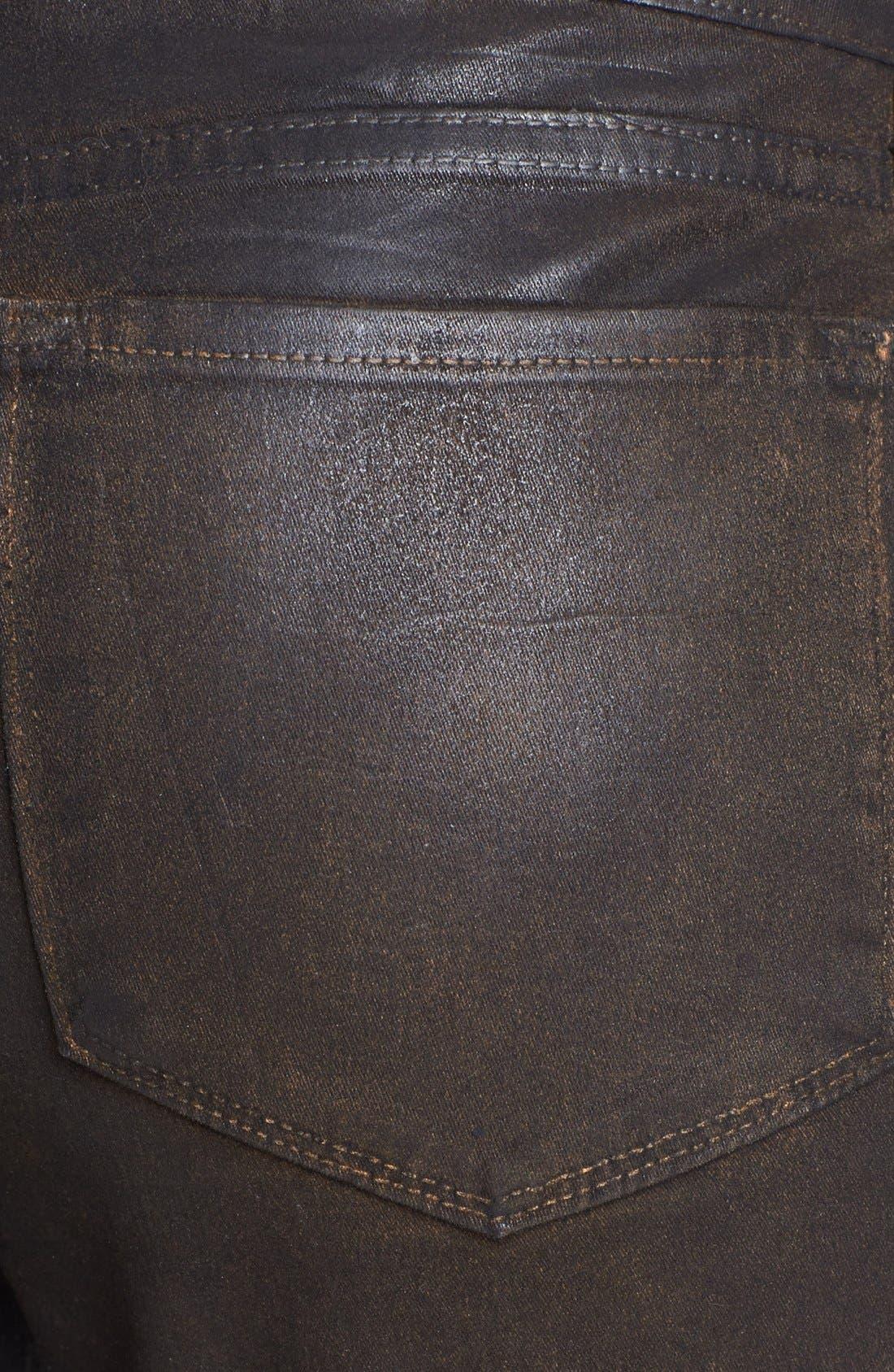 Alternate Image 3  - NYDJ 'Sheri' Coated Stretch Skinny Jeans (Beat Leather)