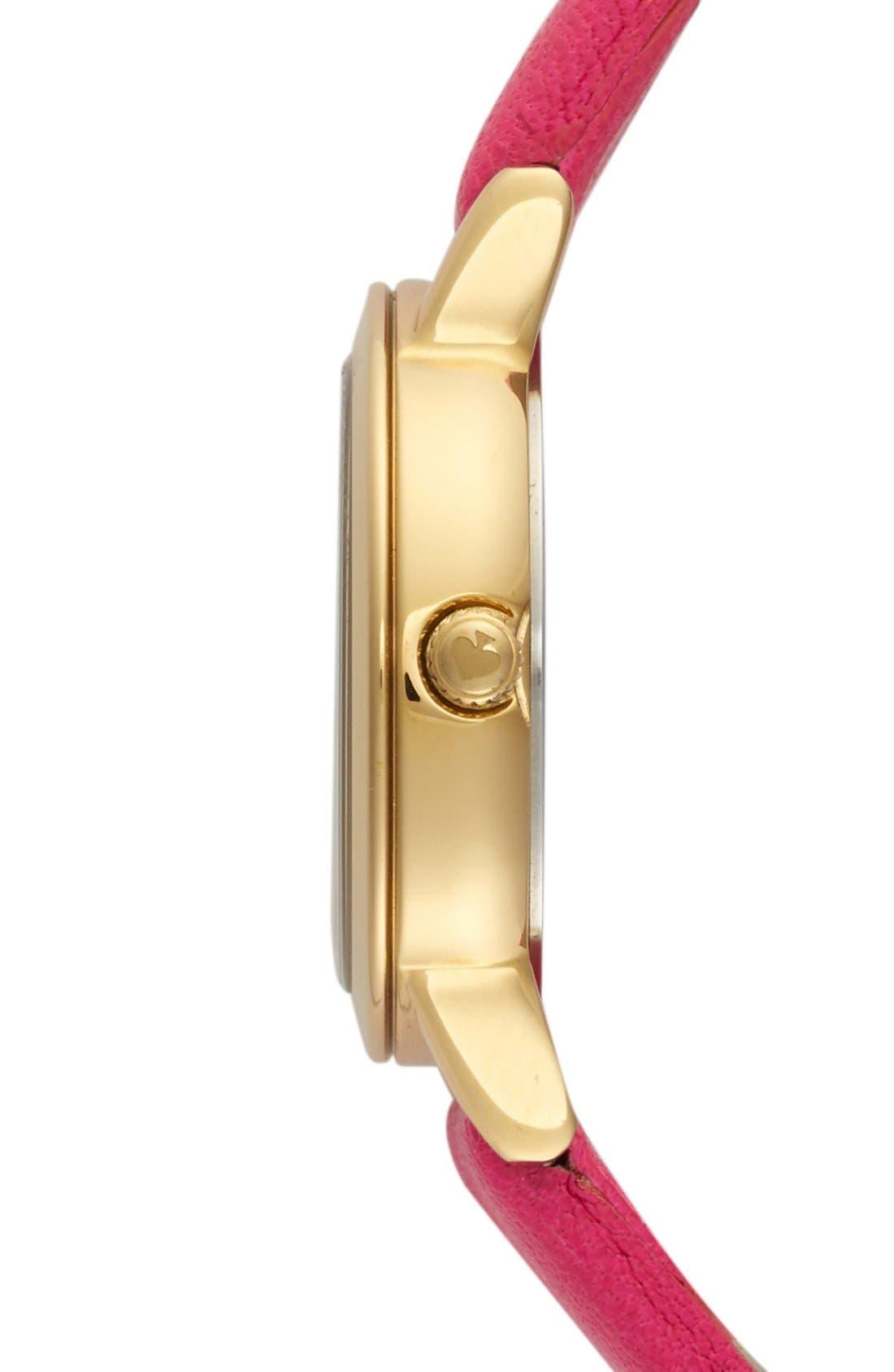 Alternate Image 3  - kate spade new york 'metro mini' glitter dial watch, 24mm