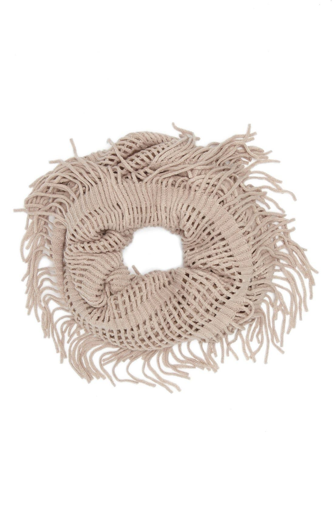 Open Weave Infinity Scarf,                         Main,                         color, Dusty Pink
