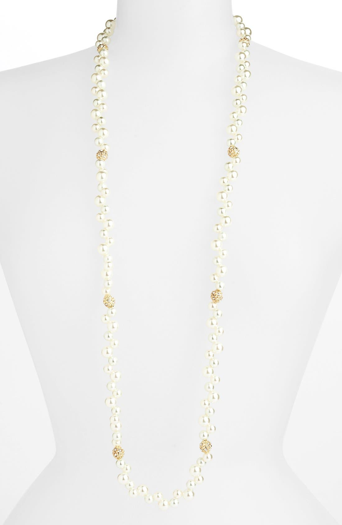 Alternate Image 1 Selected - Anne Klein Long Faux Pearl Necklace
